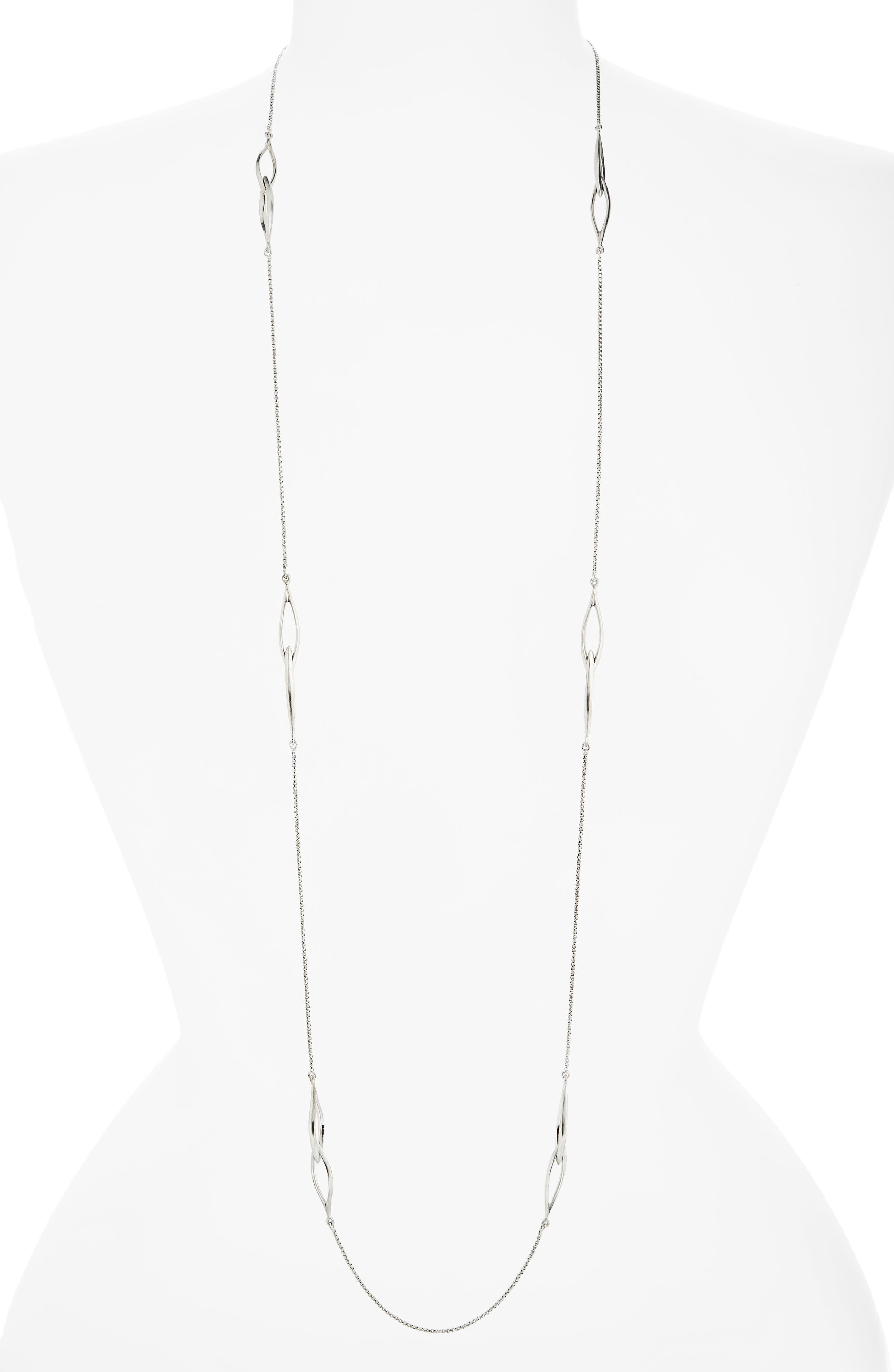 Entwined Station Necklace,                         Main,                         color, 040