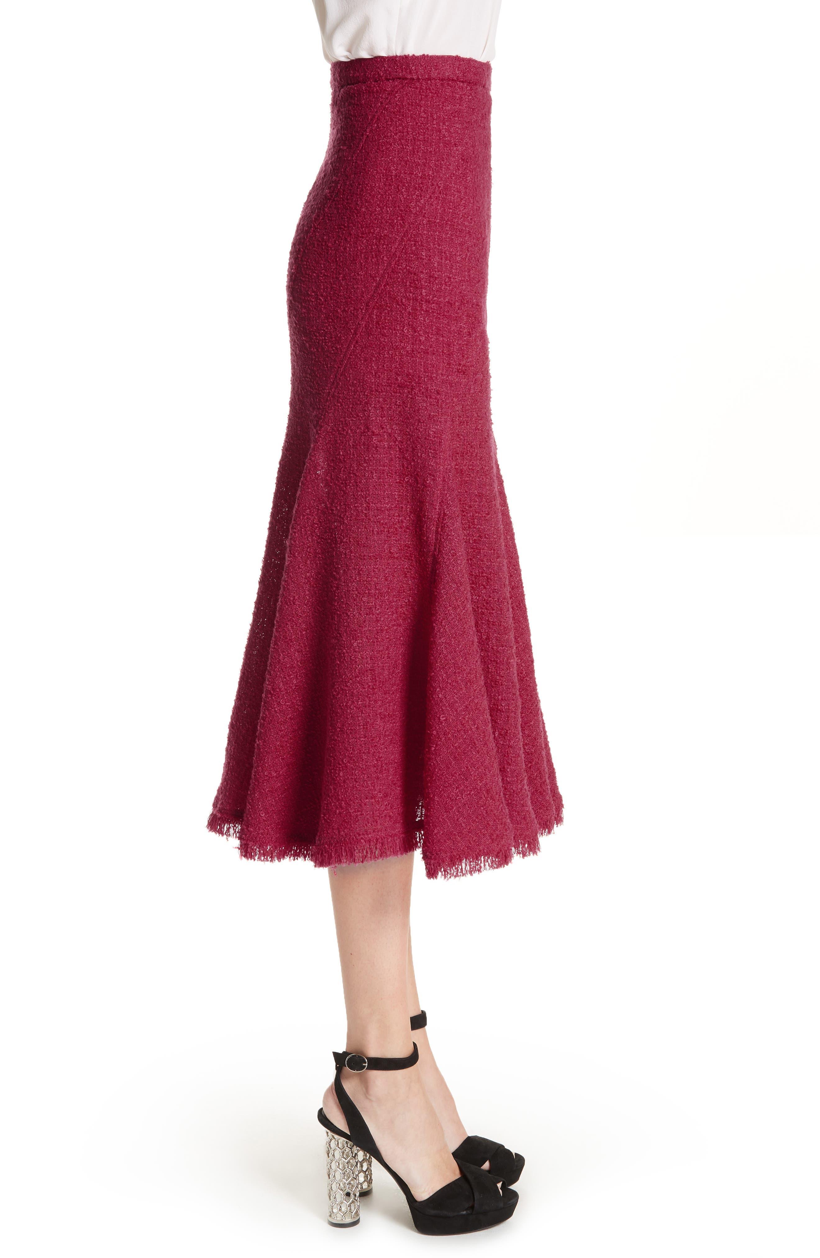 Flare Hem Tweed Skirt,                             Alternate thumbnail 3, color,                             607