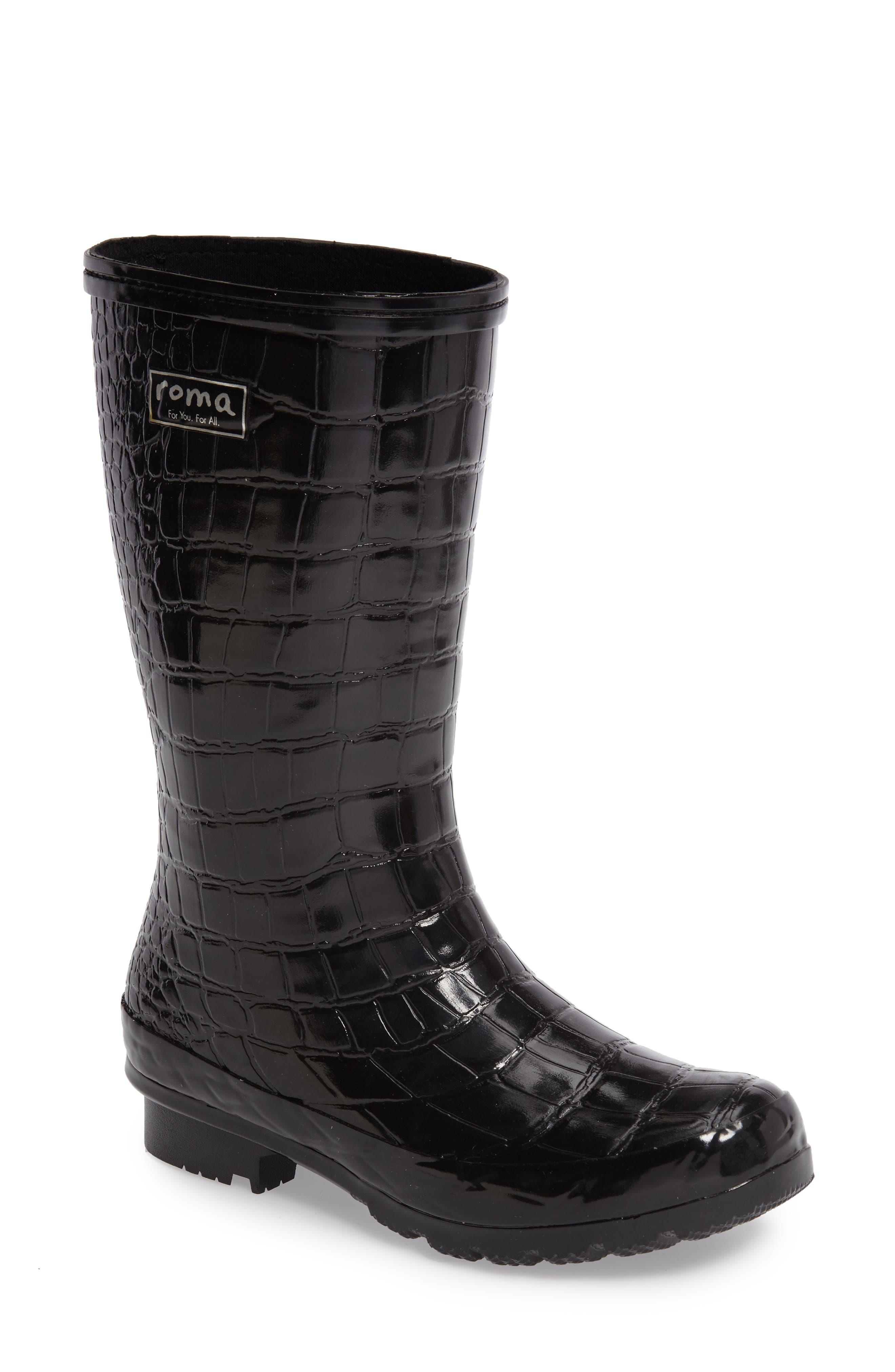 Short Rain Boot,                             Main thumbnail 1, color,                             001