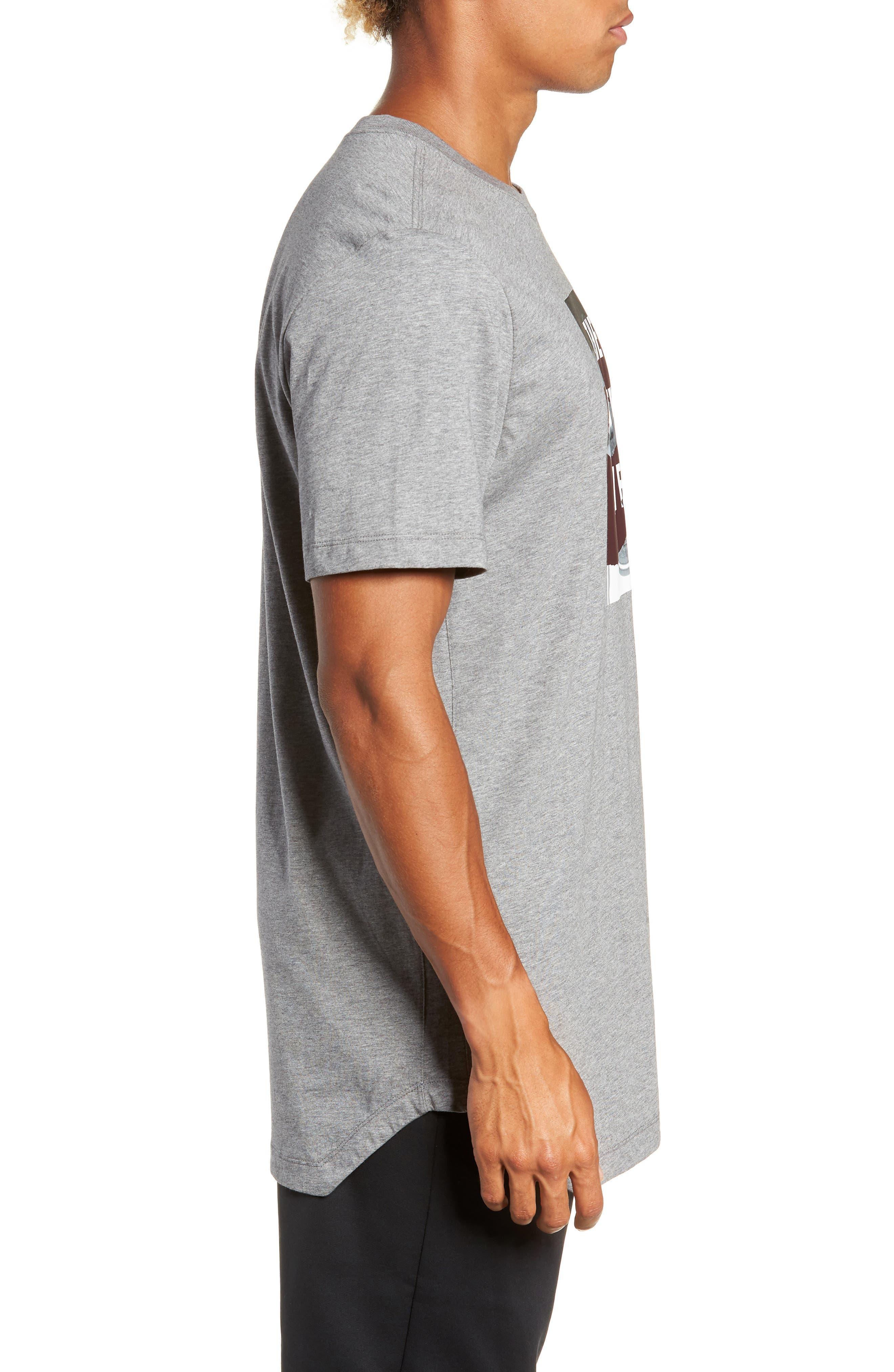 Longline T-Shirt,                             Alternate thumbnail 3, color,                             GREY