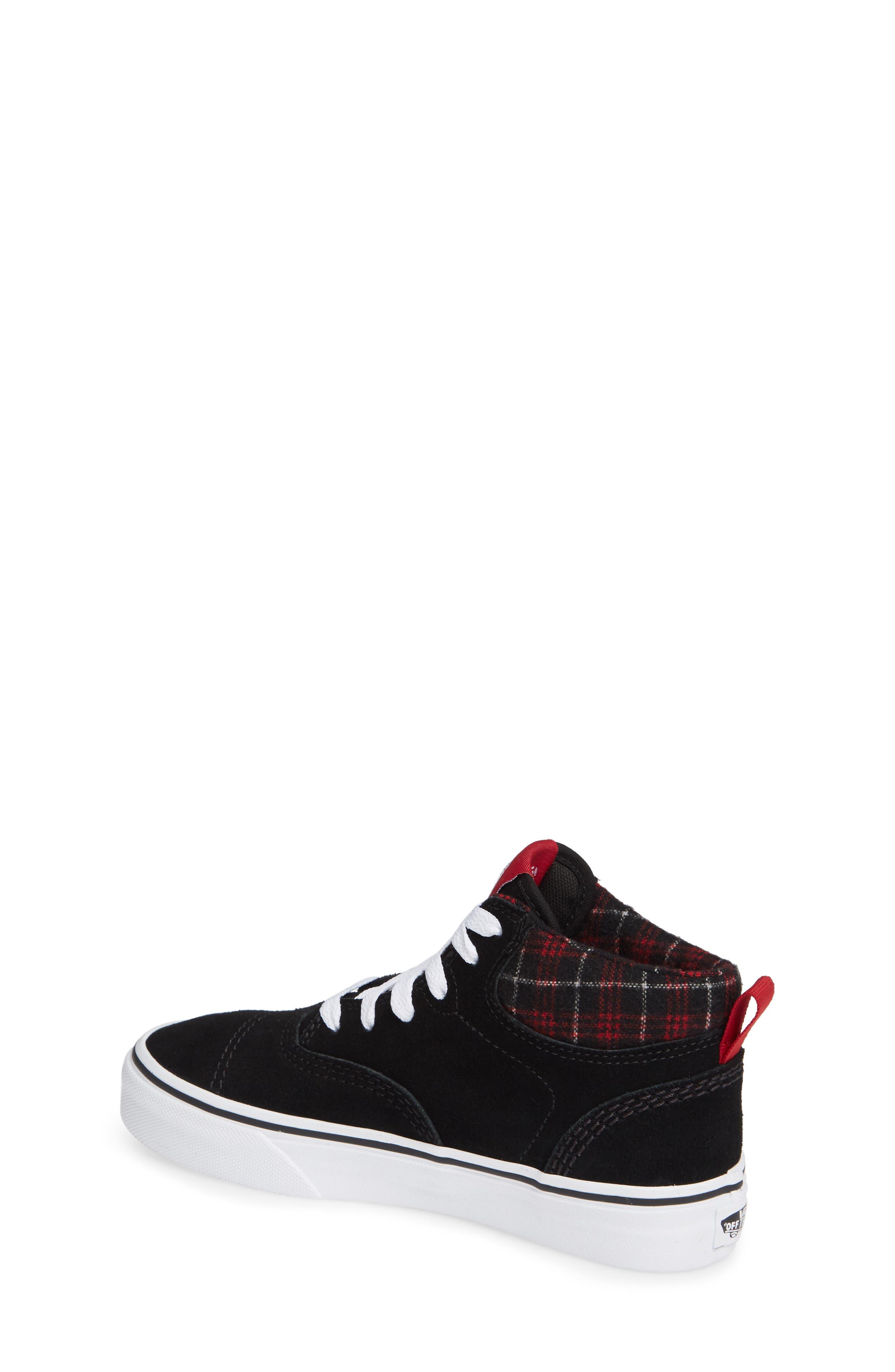 Era - Hi Sneaker,                             Alternate thumbnail 2, color,                             SUEDE AND PLAID BLACK/ WHITE