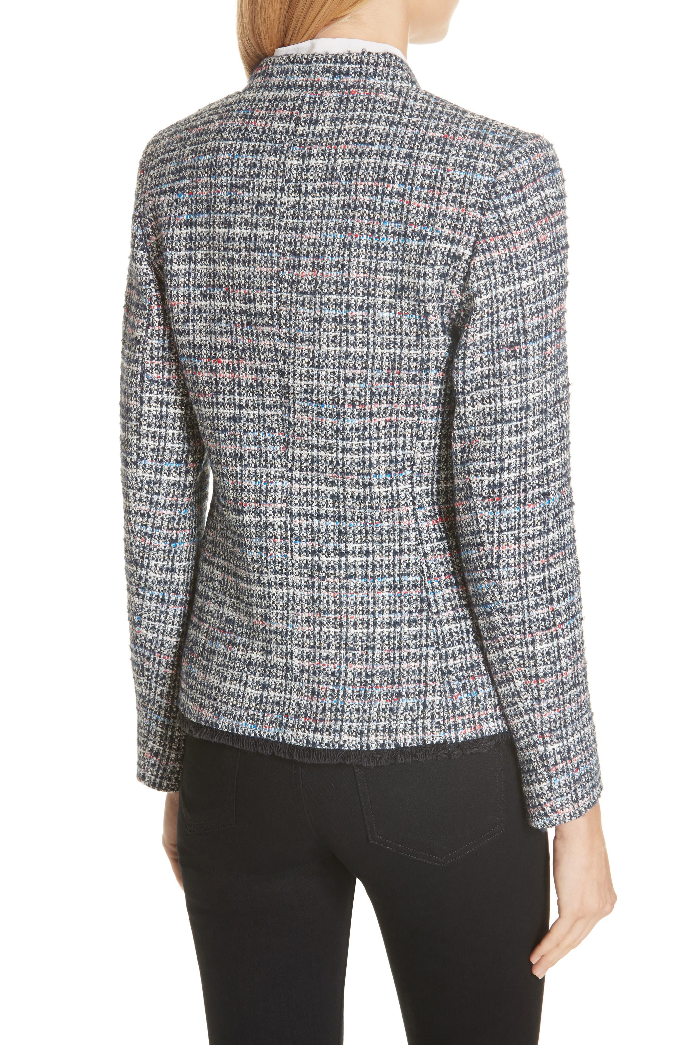 Notch Collar Tweed Jacket,                             Alternate thumbnail 2, color,                             400