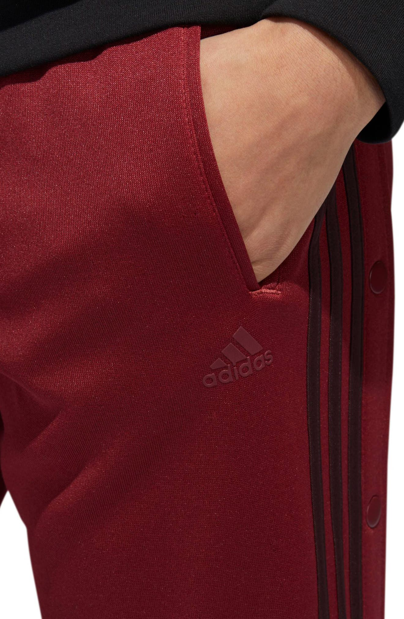 Tricot Snap Pants,                             Alternate thumbnail 7, color,                             NOBLE MAROON/ NIGHT RED