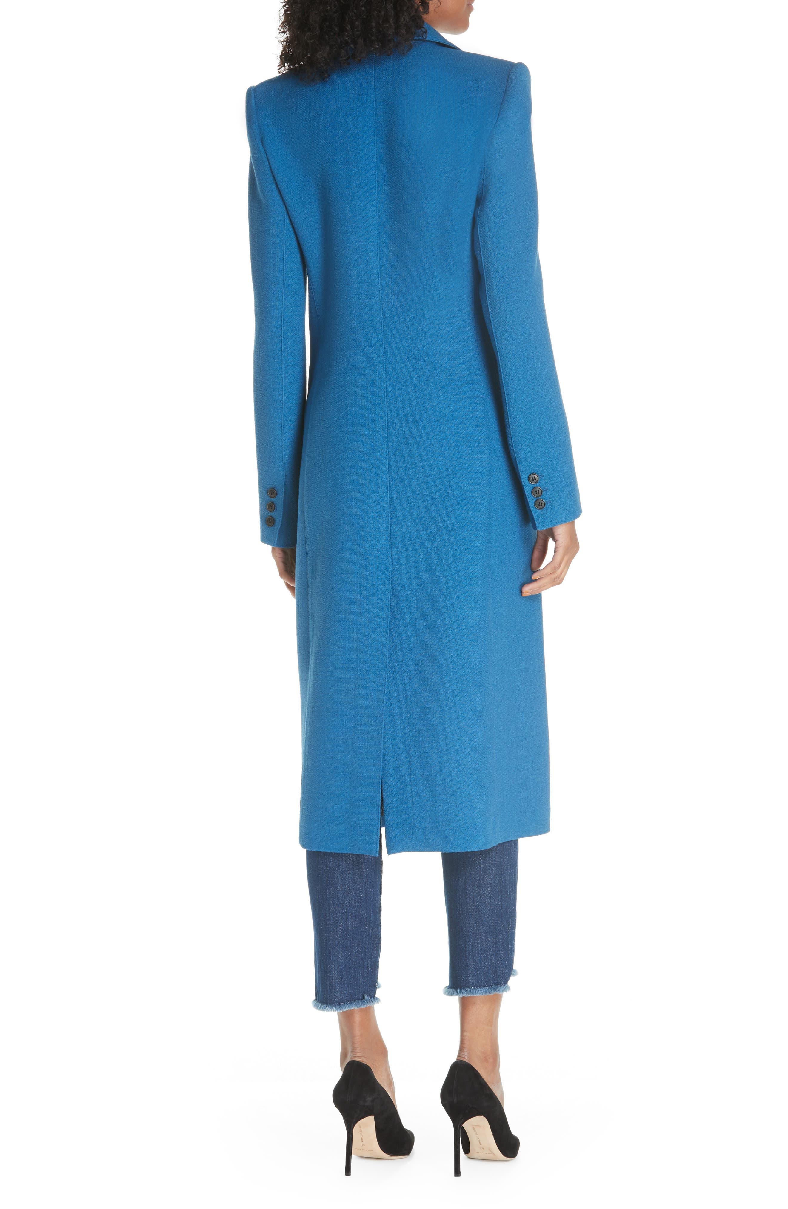Peaked Lapel Wool Blend Coat,                             Alternate thumbnail 2, color,                             470