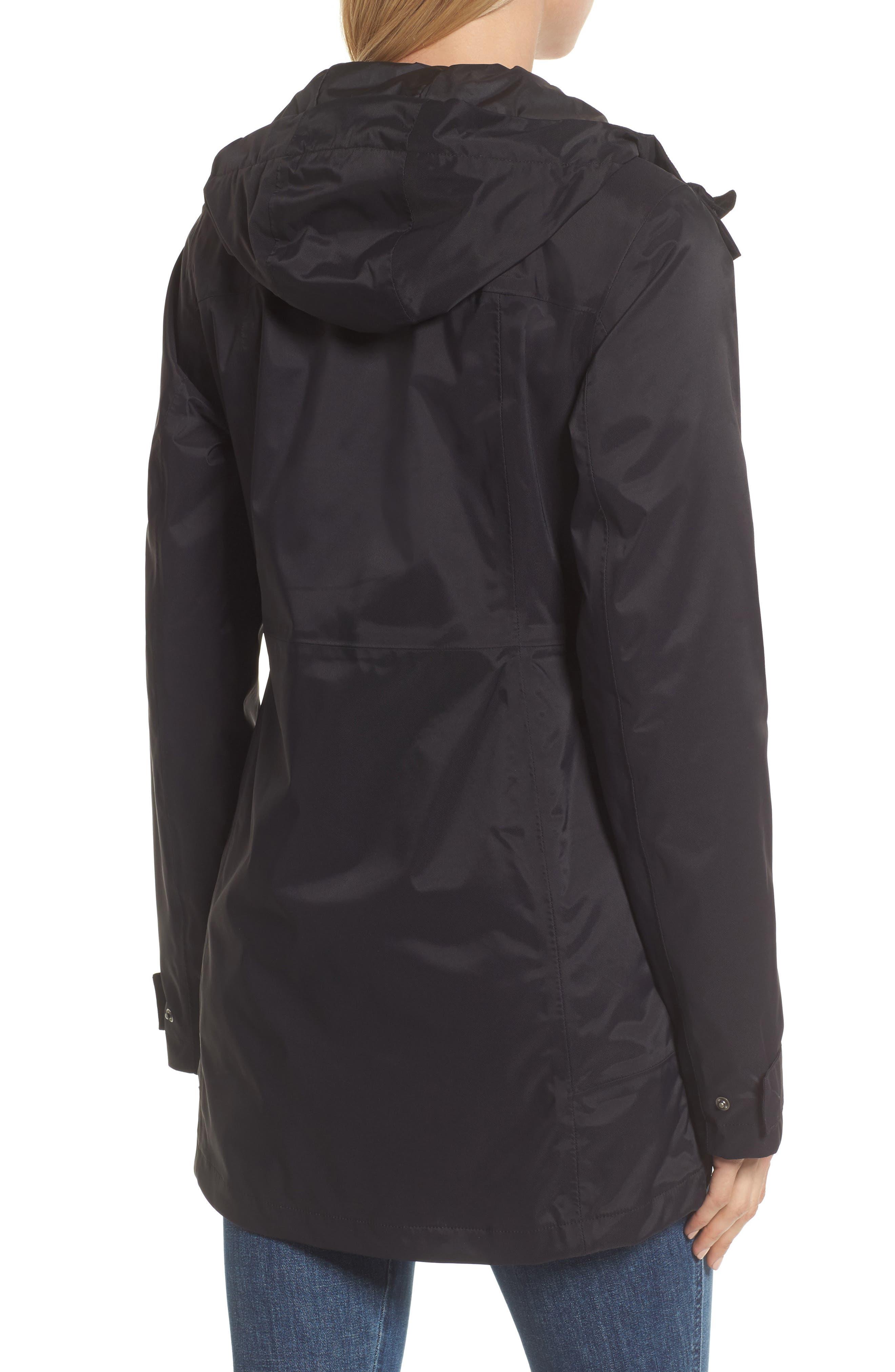 City Midi Trench Coat,                             Alternate thumbnail 2, color,                             TNF BLACK