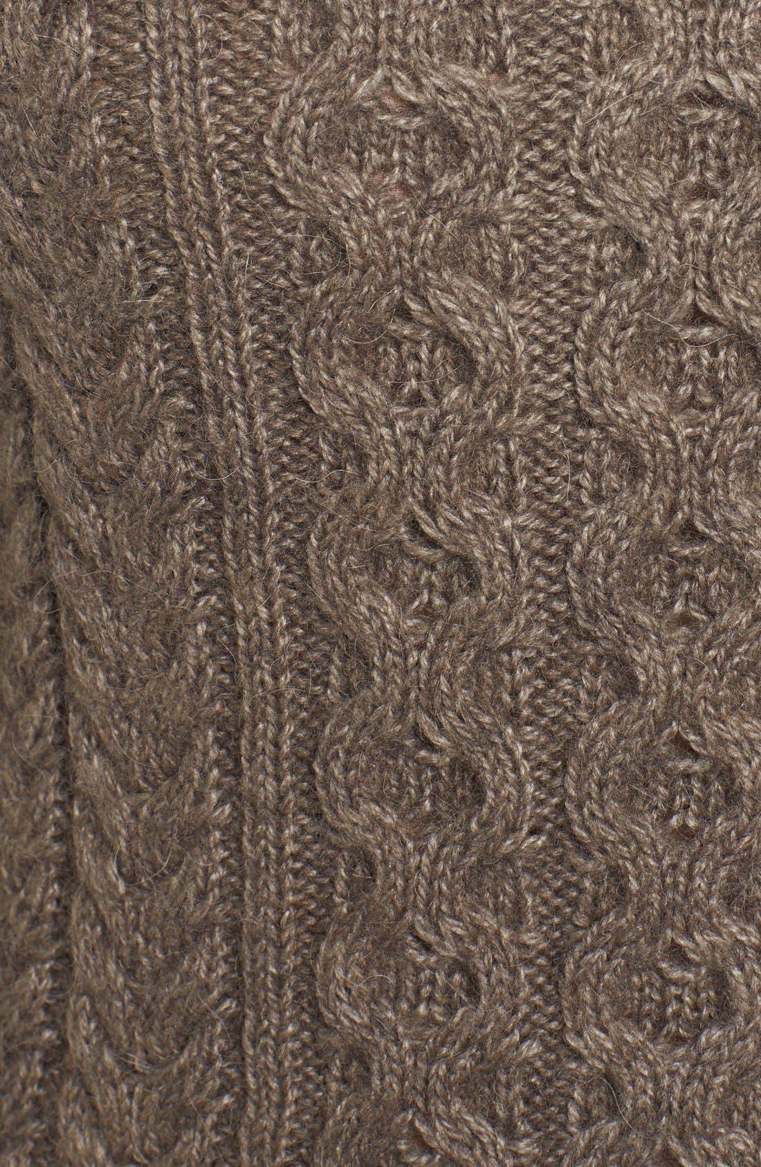 Cable Knit Crewneck Sweater,                             Alternate thumbnail 4, color,                             270