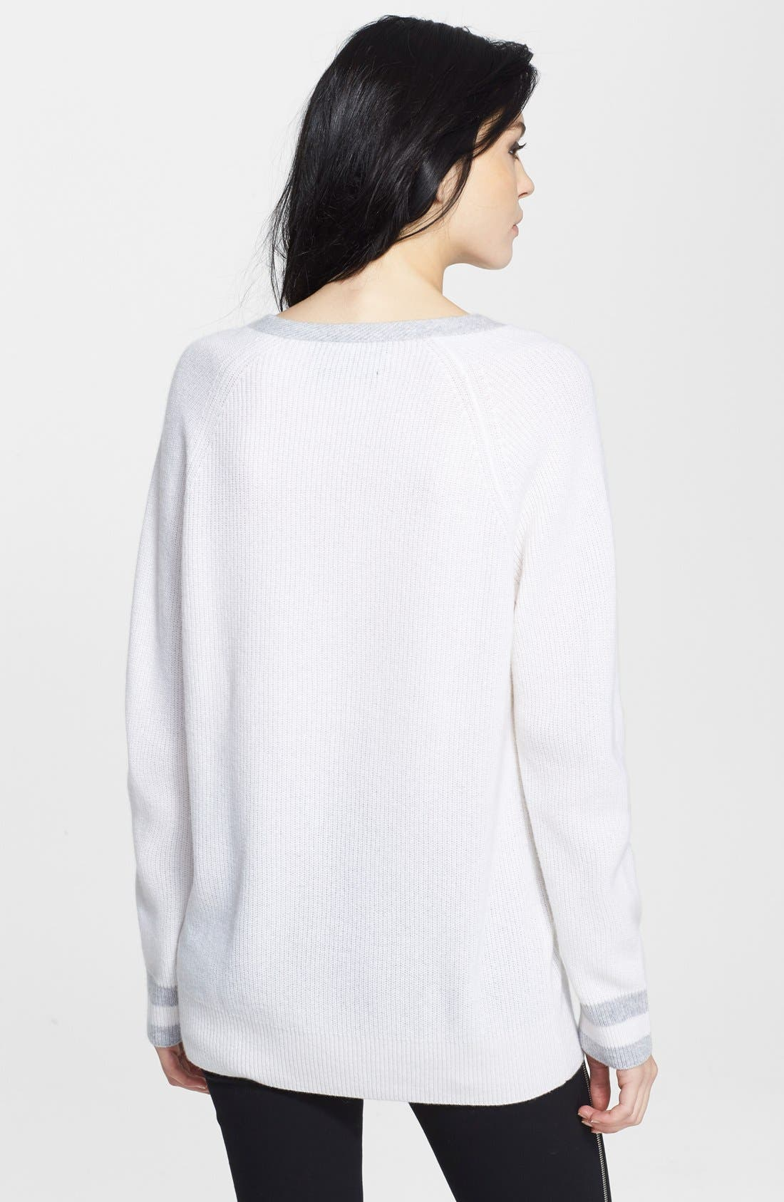 'Talia' V-Neck Cashmere Sweater,                             Alternate thumbnail 2, color,                             180