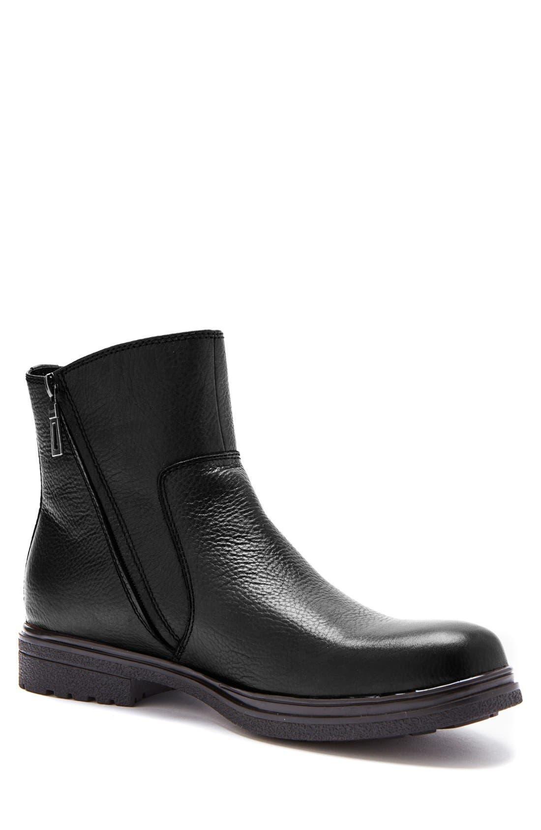 'Brawn' Waterproof Zip Boot,                         Main,                         color, 001