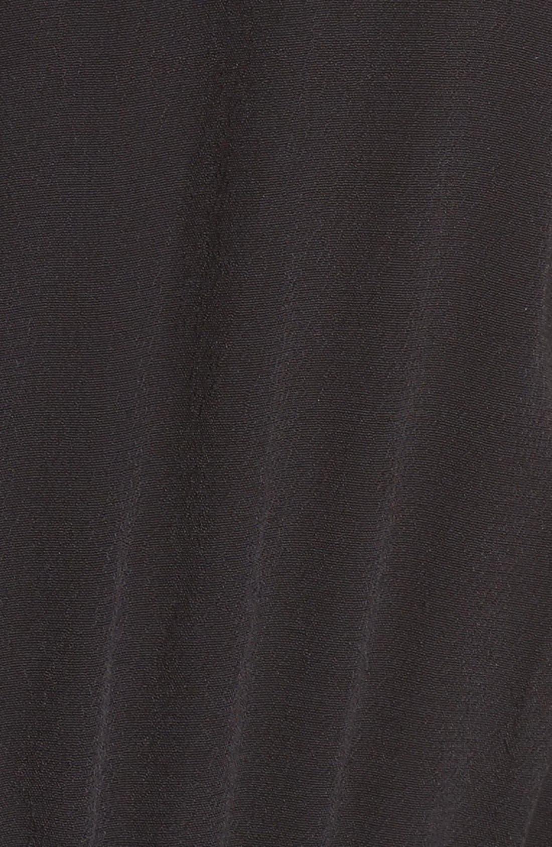 Sleeveless Peplum Jumpsuit,                             Alternate thumbnail 6, color,                             001