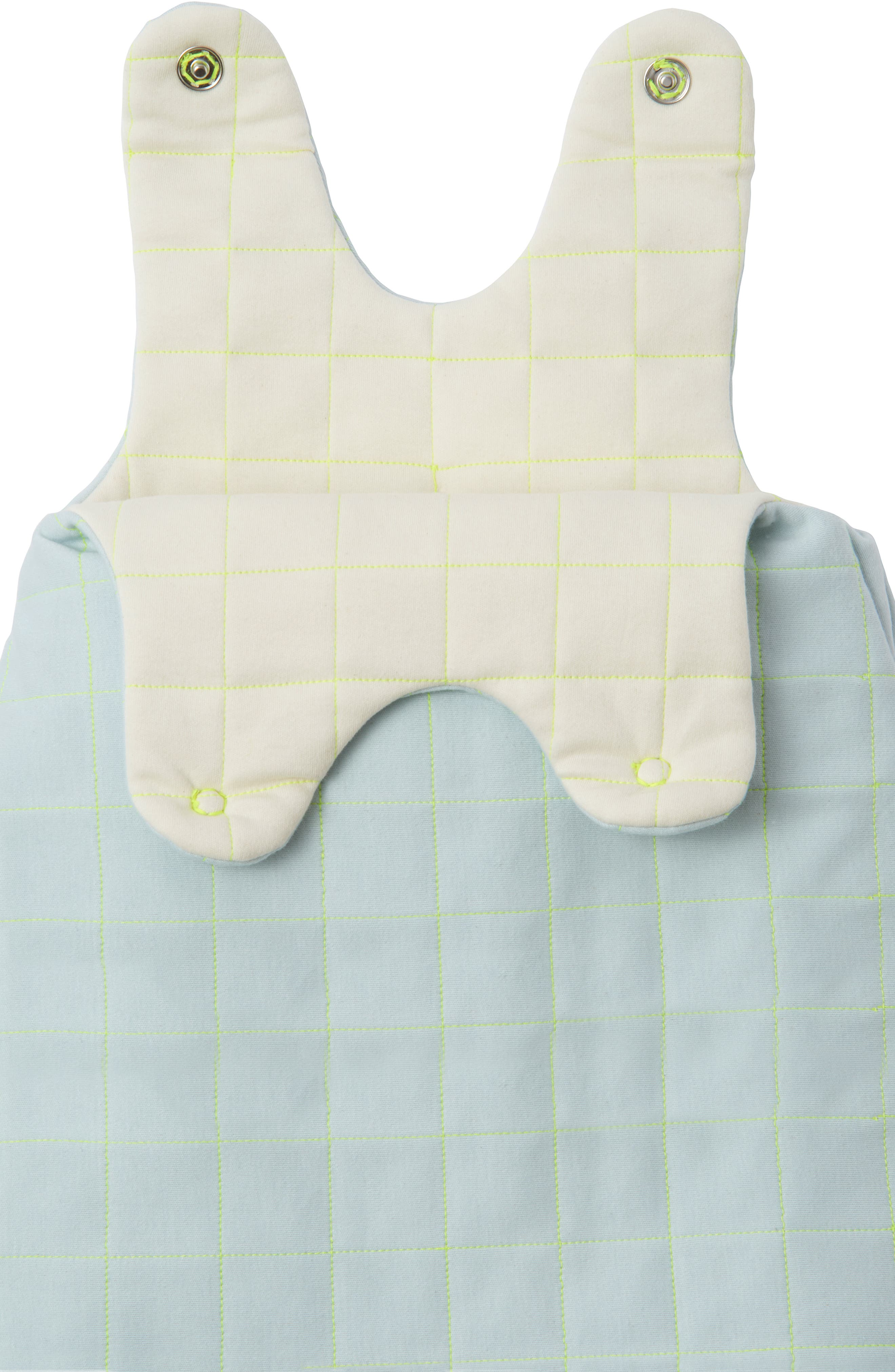 Quilted Organic Cotton Wearable Blanket,                             Alternate thumbnail 2, color,                             BLUE