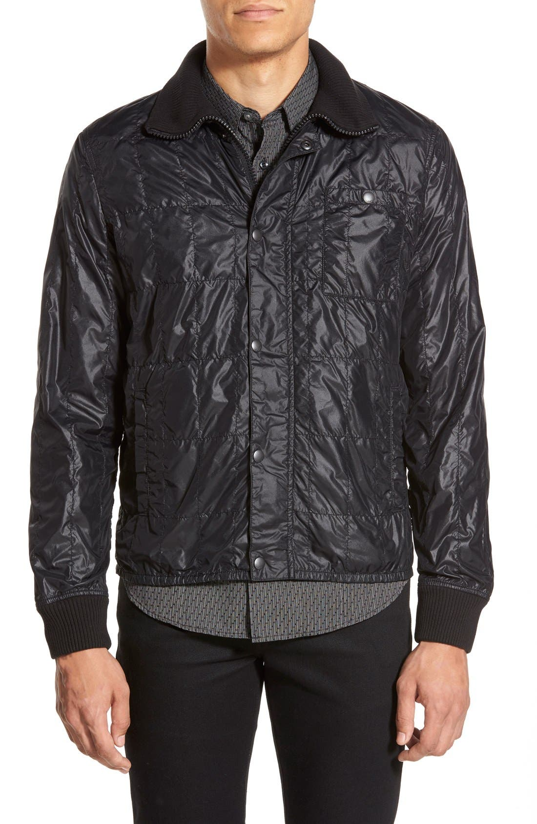 Lightweight Quilted Bomber Jacket,                             Alternate thumbnail 2, color,                             001