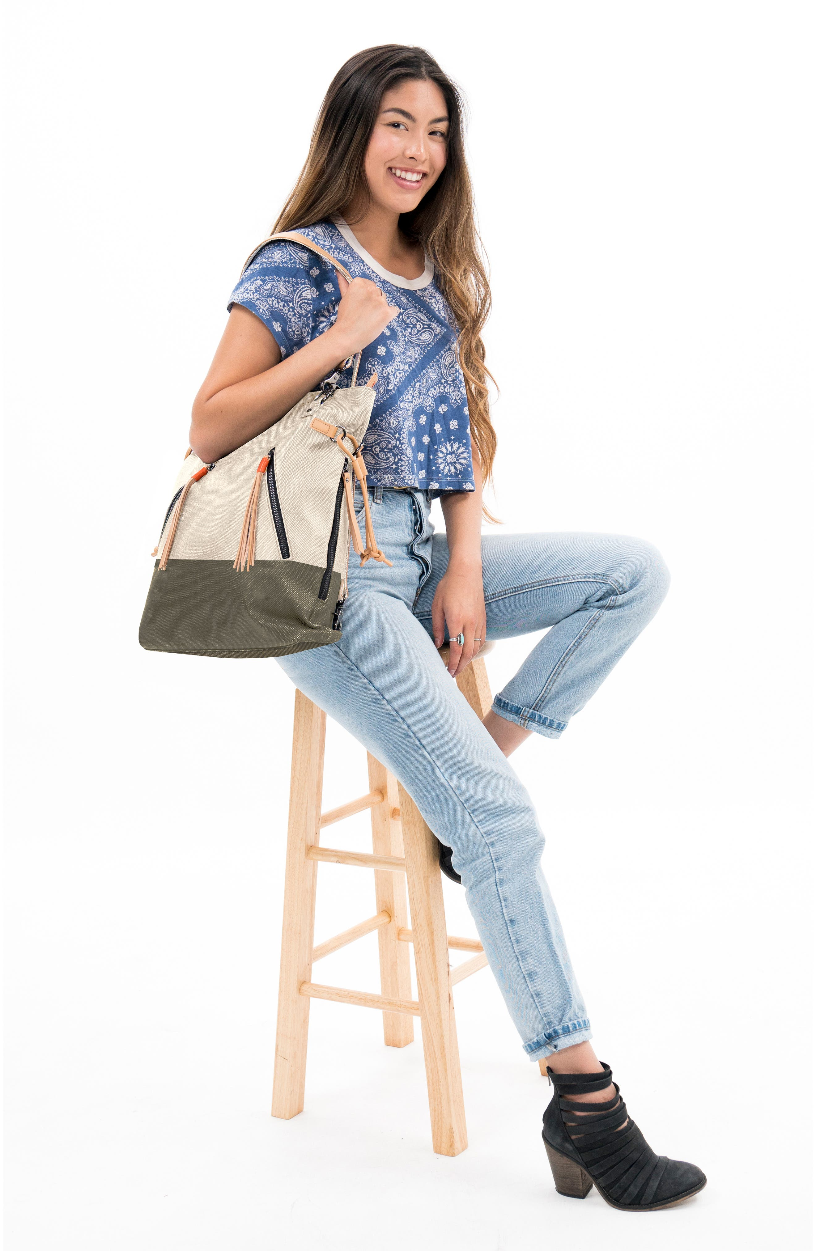 Tempest Canvas Convertible Backpack,                             Alternate thumbnail 2, color,                             901
