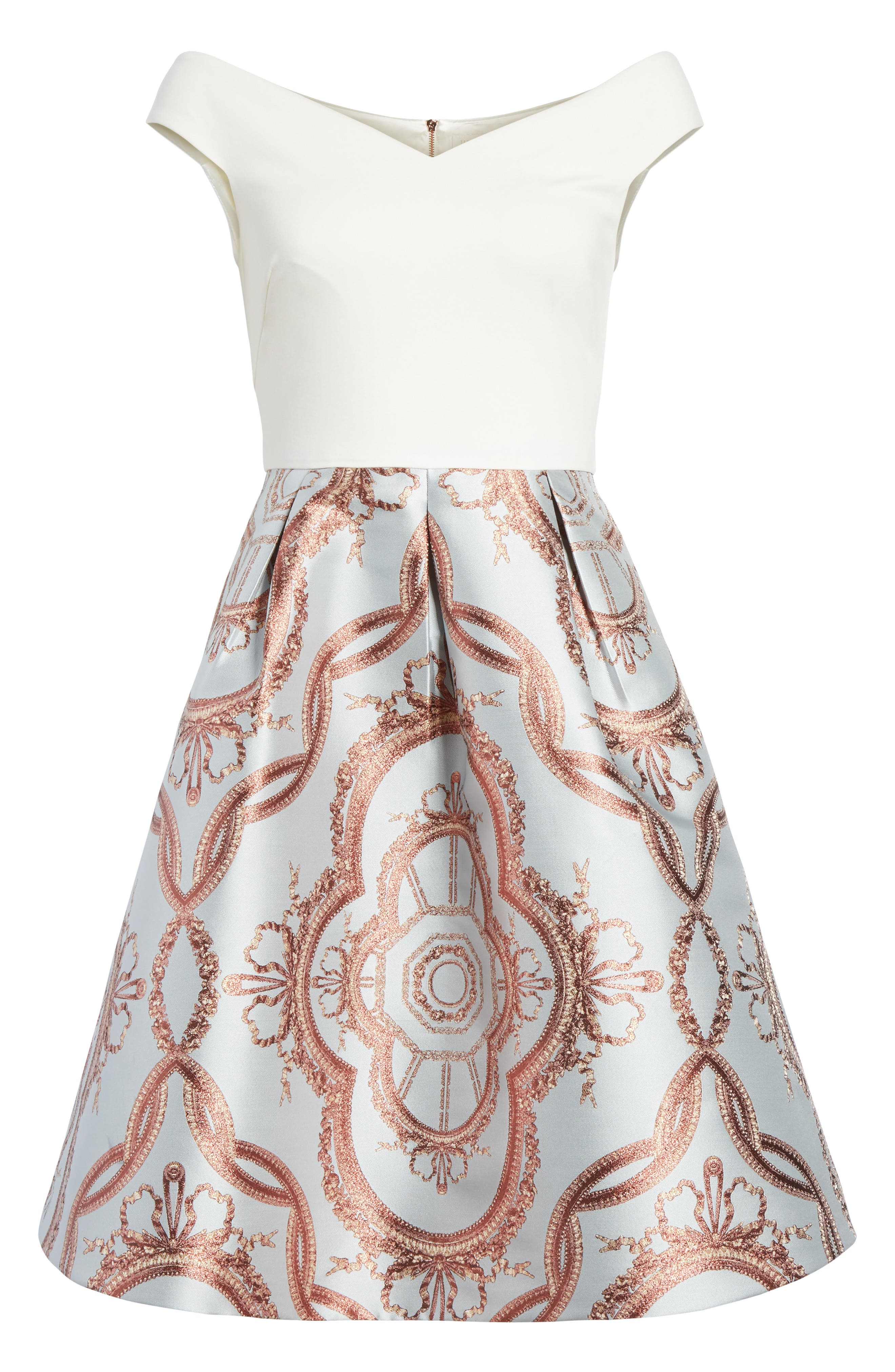 Versailles Fit & Flare Dress,                             Alternate thumbnail 6, color,                             454