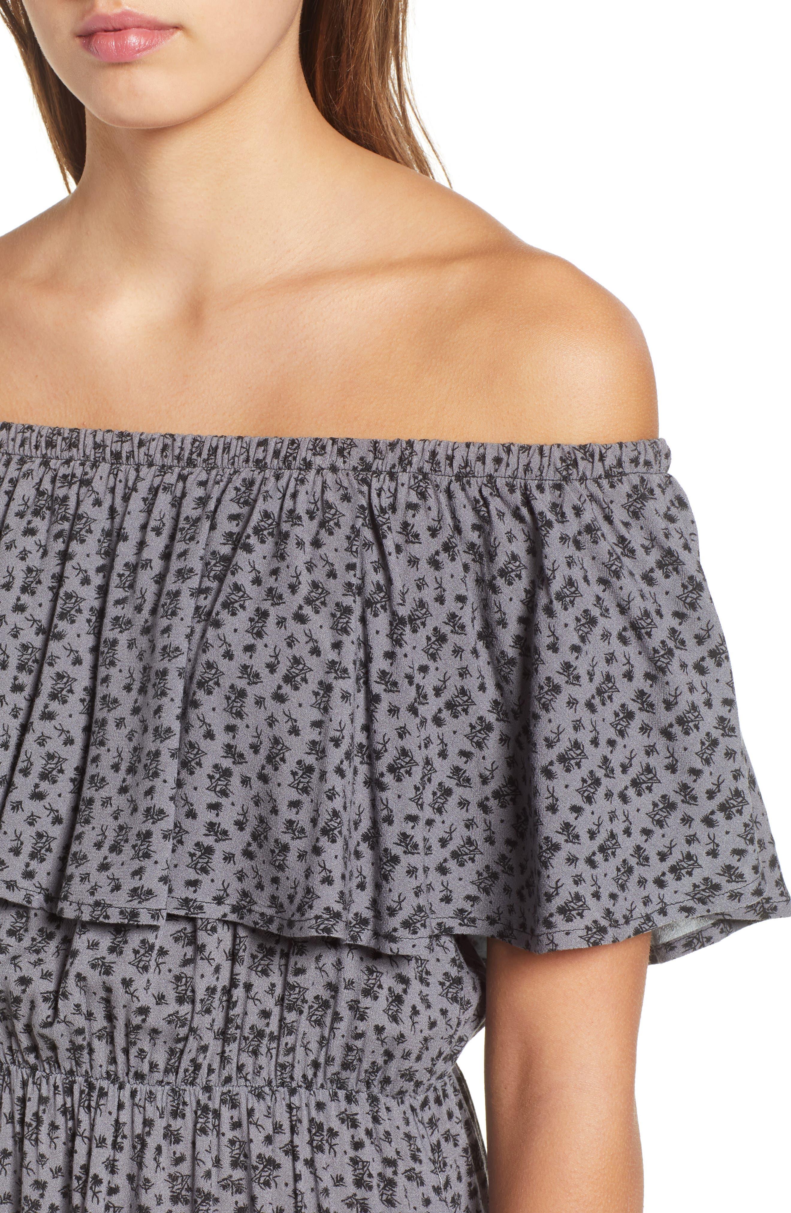 LIRA CLOTHING,                             Marissa Floral Print Off the Shoulder Dress,                             Alternate thumbnail 5, color,                             250