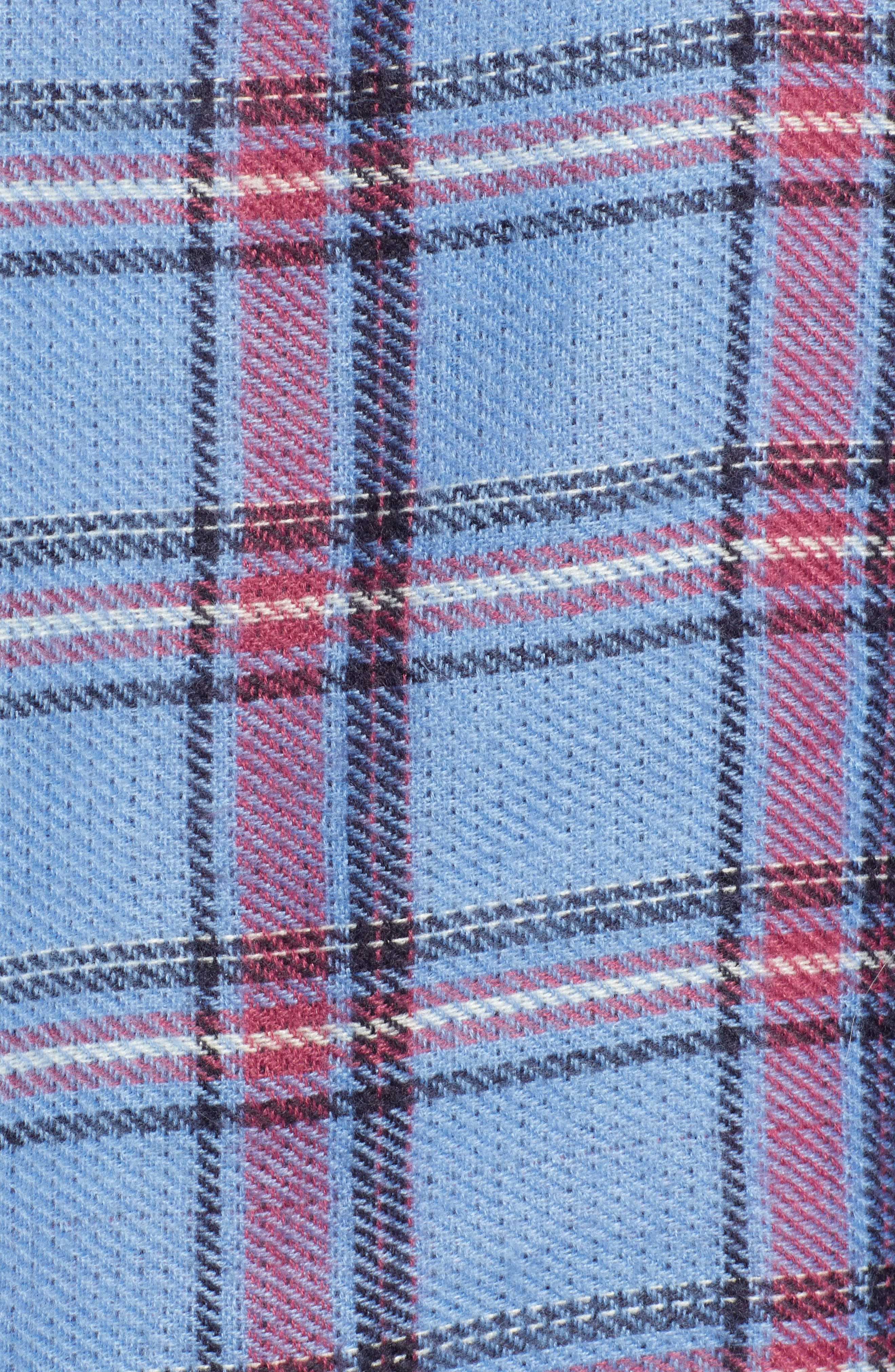 x Atlantic-Pacific Plaid Double Sided Blanket Wrap,                             Alternate thumbnail 7, color,                             410