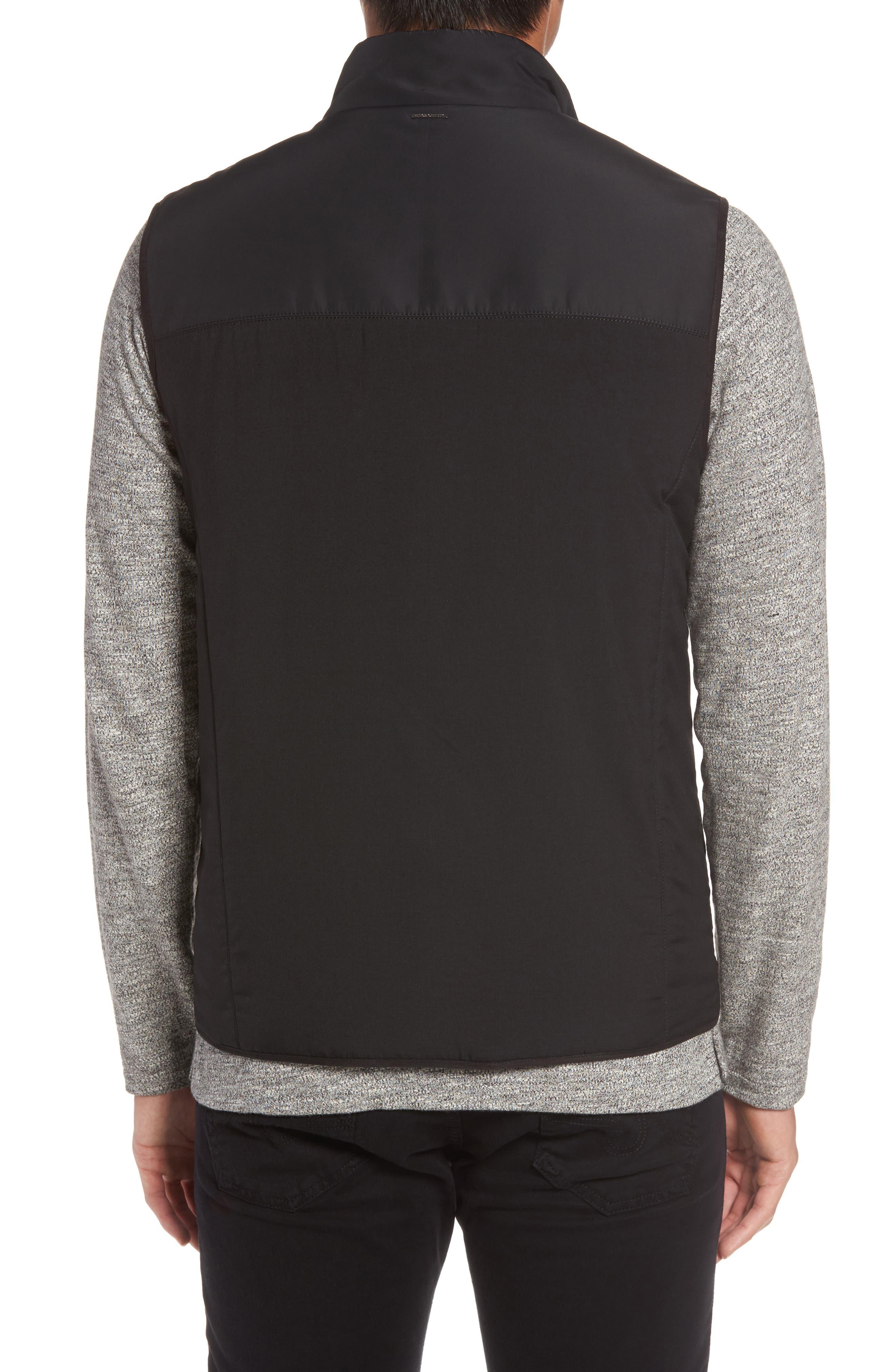 VINCE CAMUTO,                             Slim Fit Quilted Vest,                             Alternate thumbnail 2, color,                             BLACK