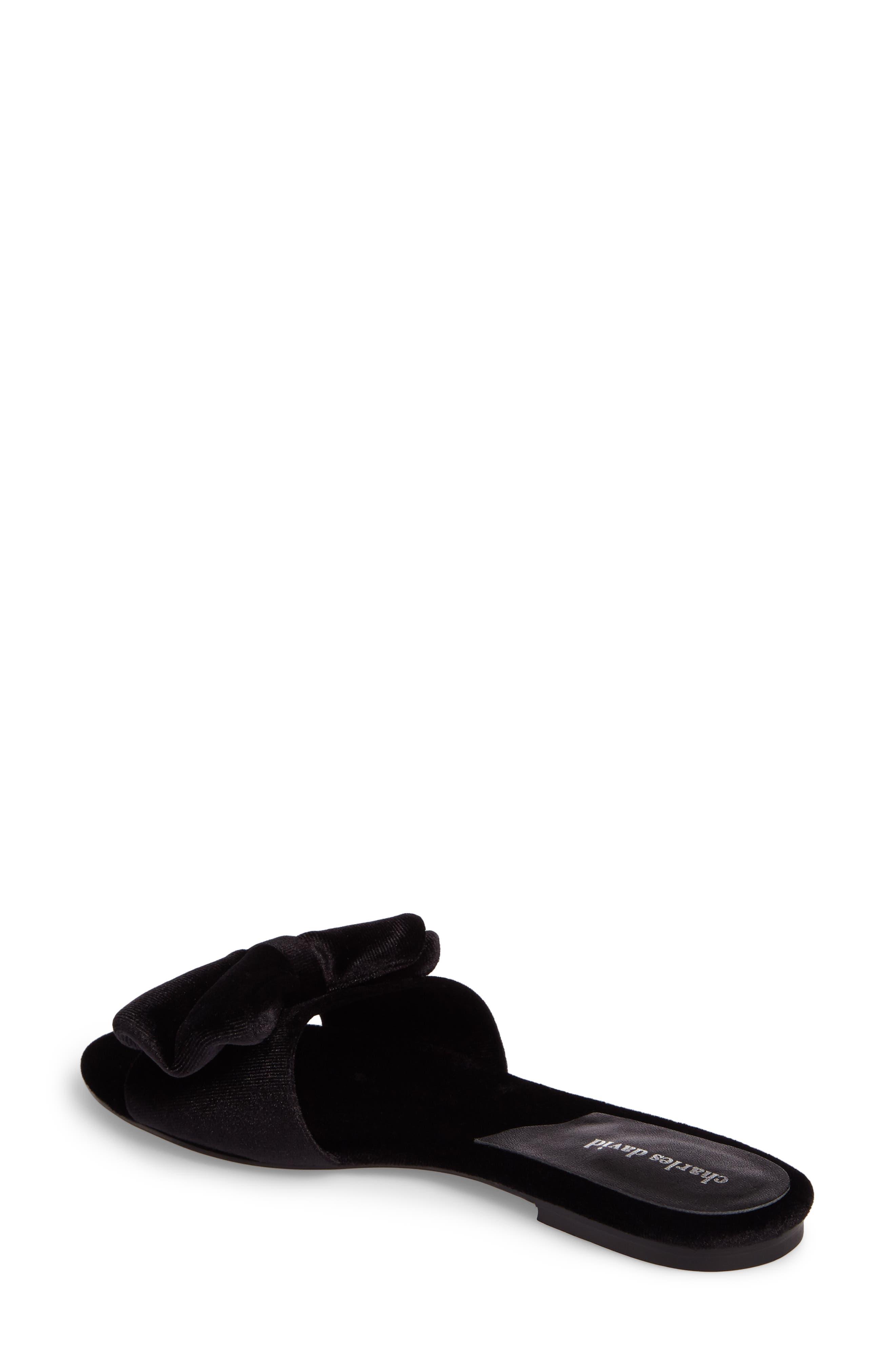 Bow Slide Sandal,                             Alternate thumbnail 3, color,