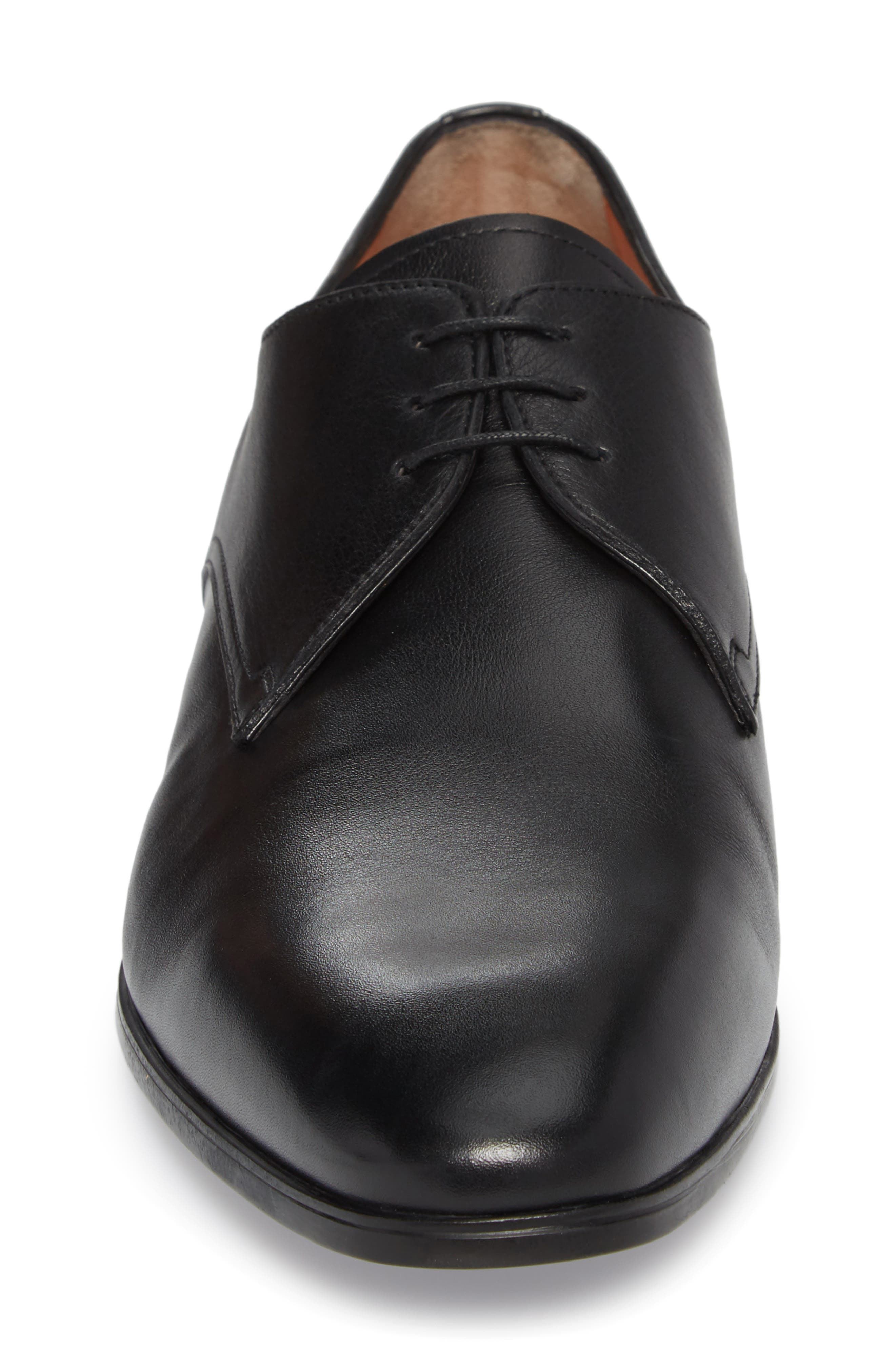 SANTONI,                             Glenn Plain Toe Derby,                             Alternate thumbnail 4, color,                             001