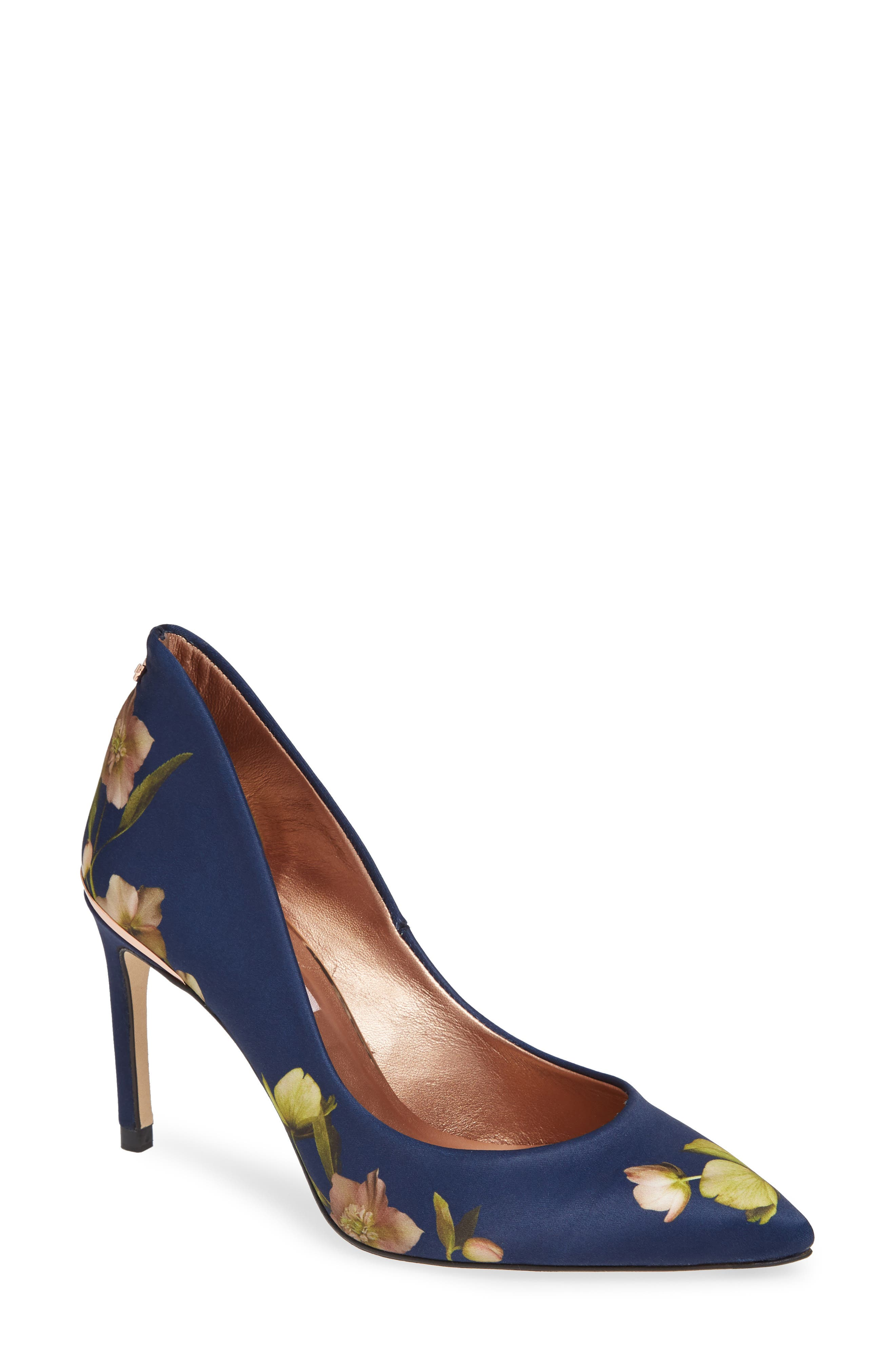 Saviop Pump,                             Main thumbnail 1, color,                             NAVY FABRIC
