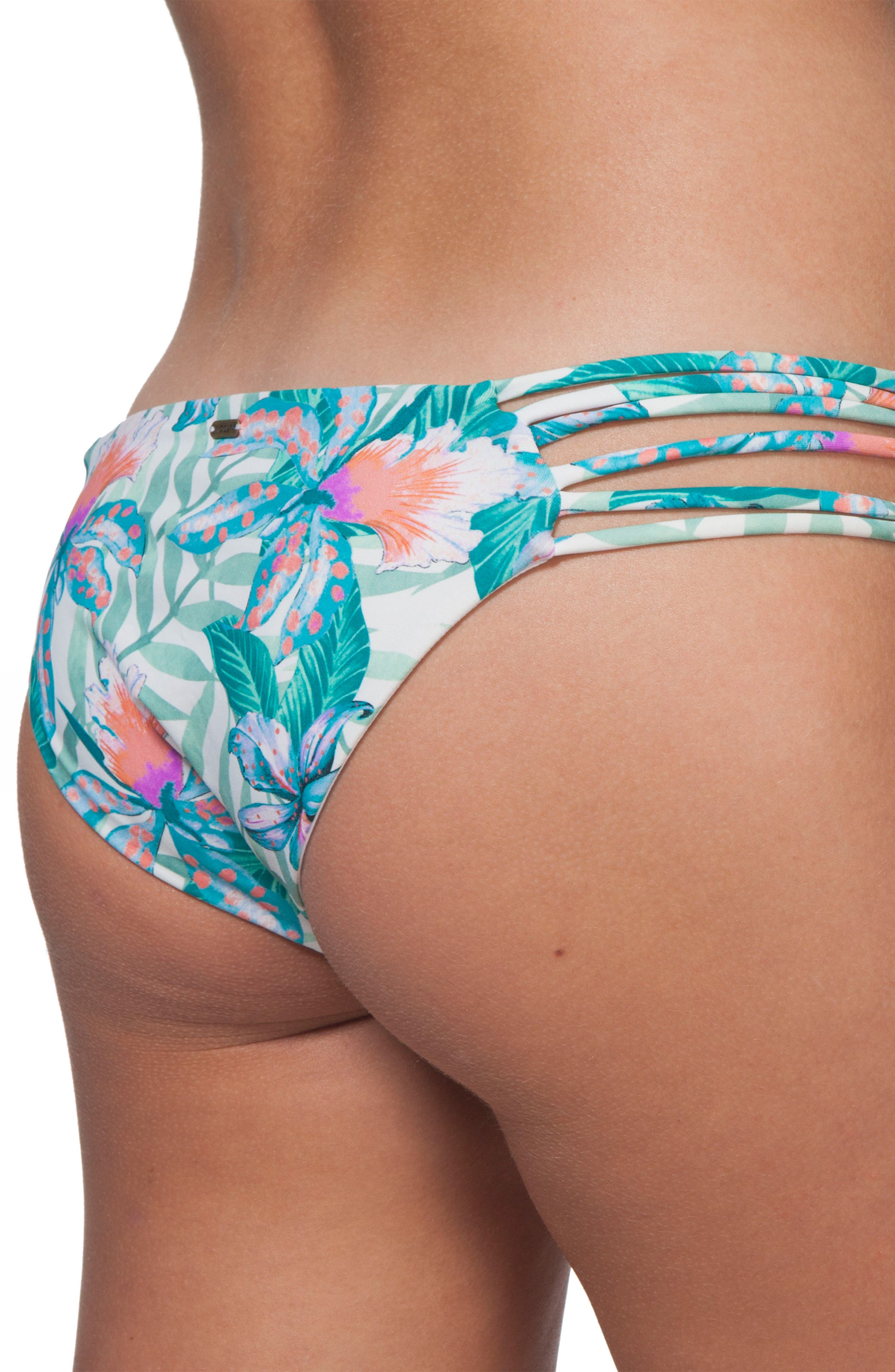 Tropic Tribe Luxe Hipster Bikini Bottoms,                             Alternate thumbnail 3, color,                             100