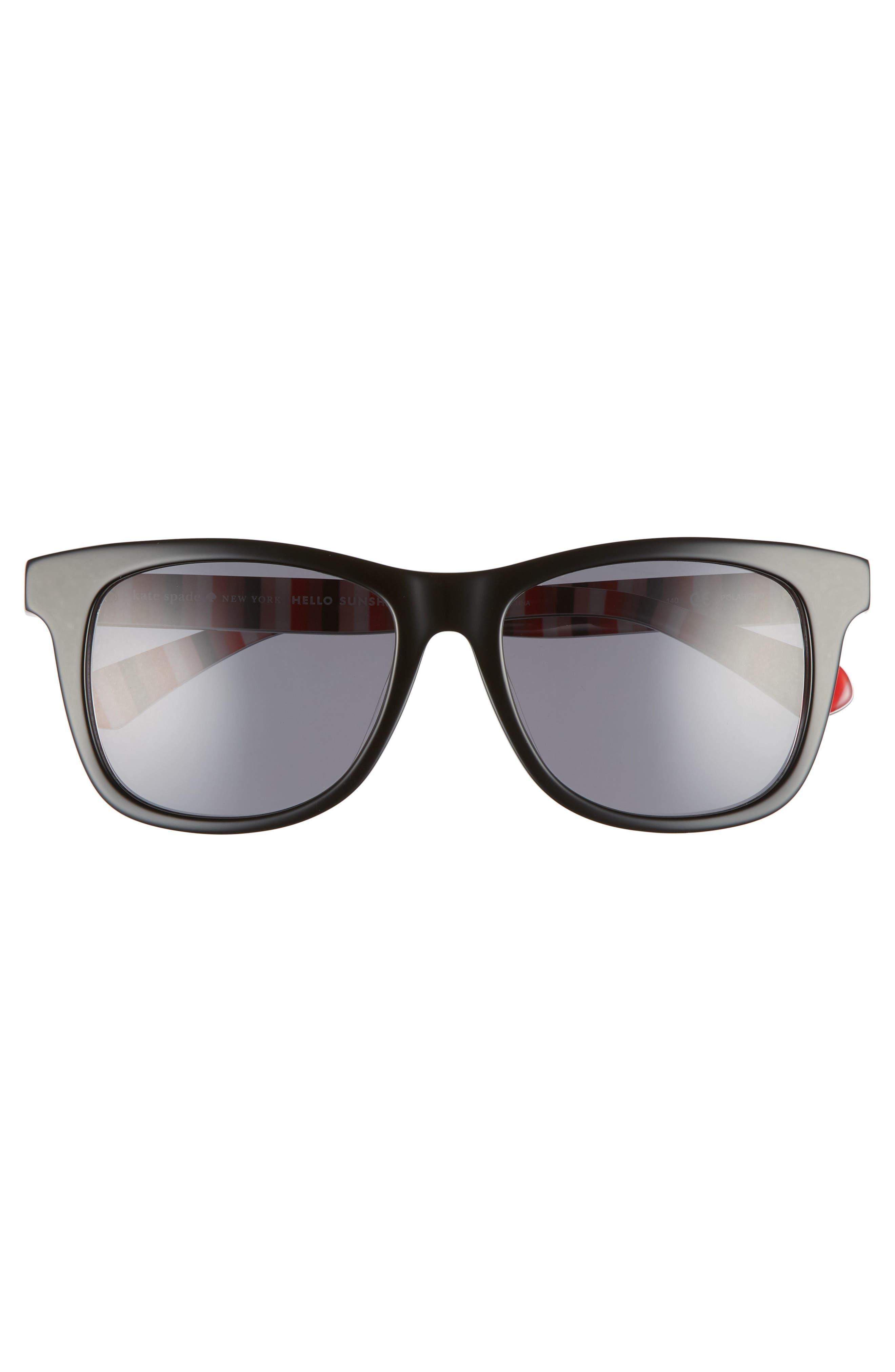 charmine 53mm gradient lens sunglasses,                             Alternate thumbnail 3, color,                             BLACK