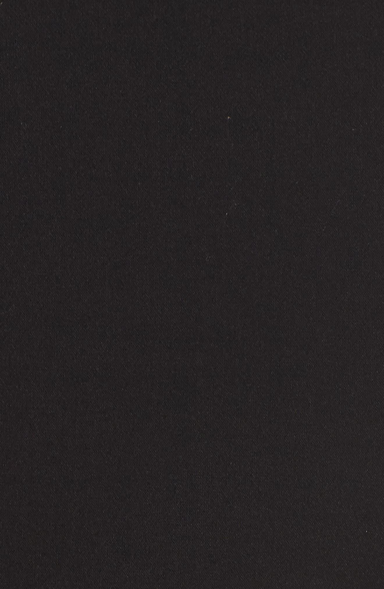 Whisper Light Sheath Dress,                             Alternate thumbnail 6, color,                             BLACK