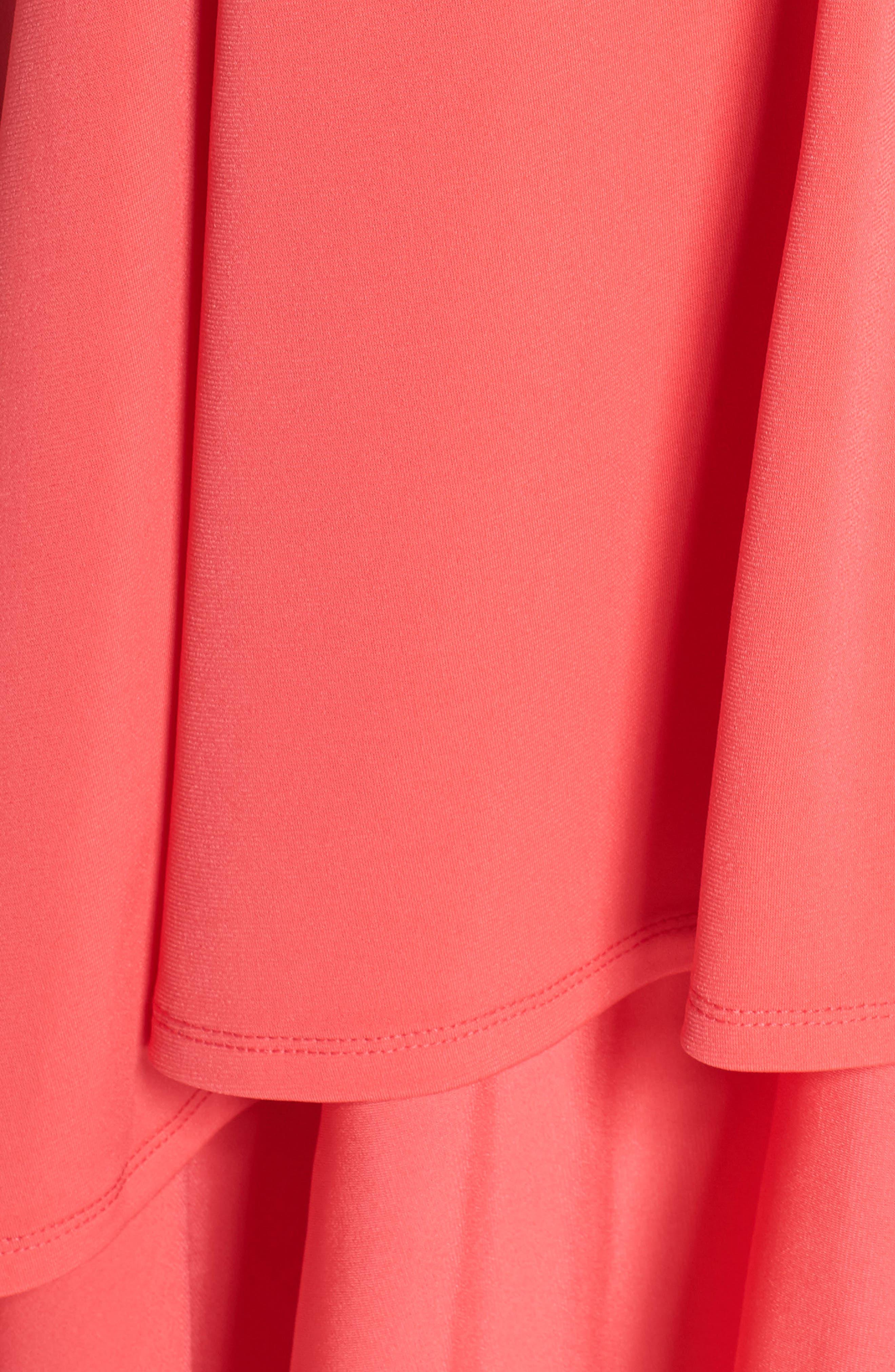 Split Shoulder High/Low Dress,                             Alternate thumbnail 6, color,                             660