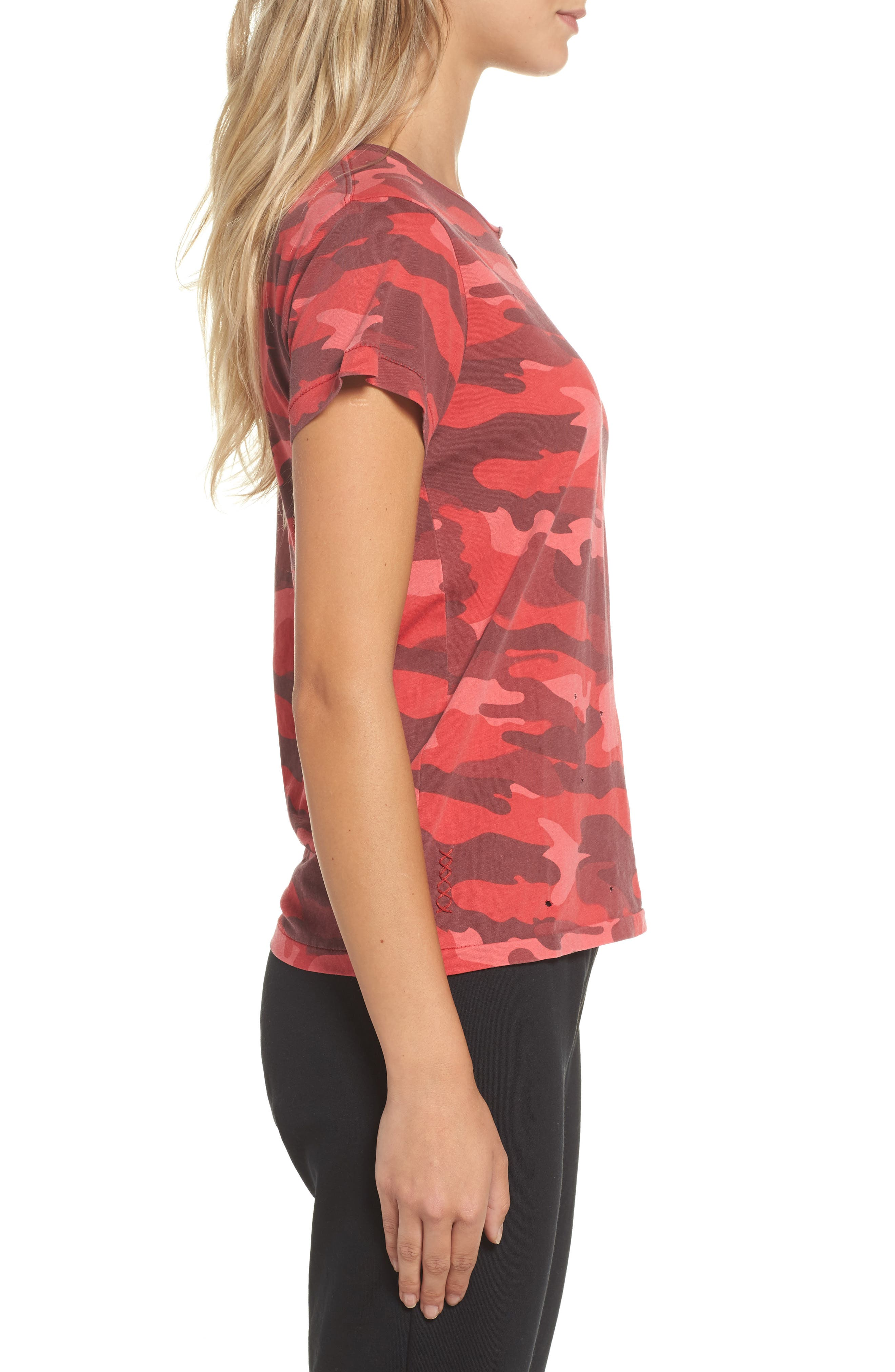 Distressed Camo Tee,                             Alternate thumbnail 3, color,                             600