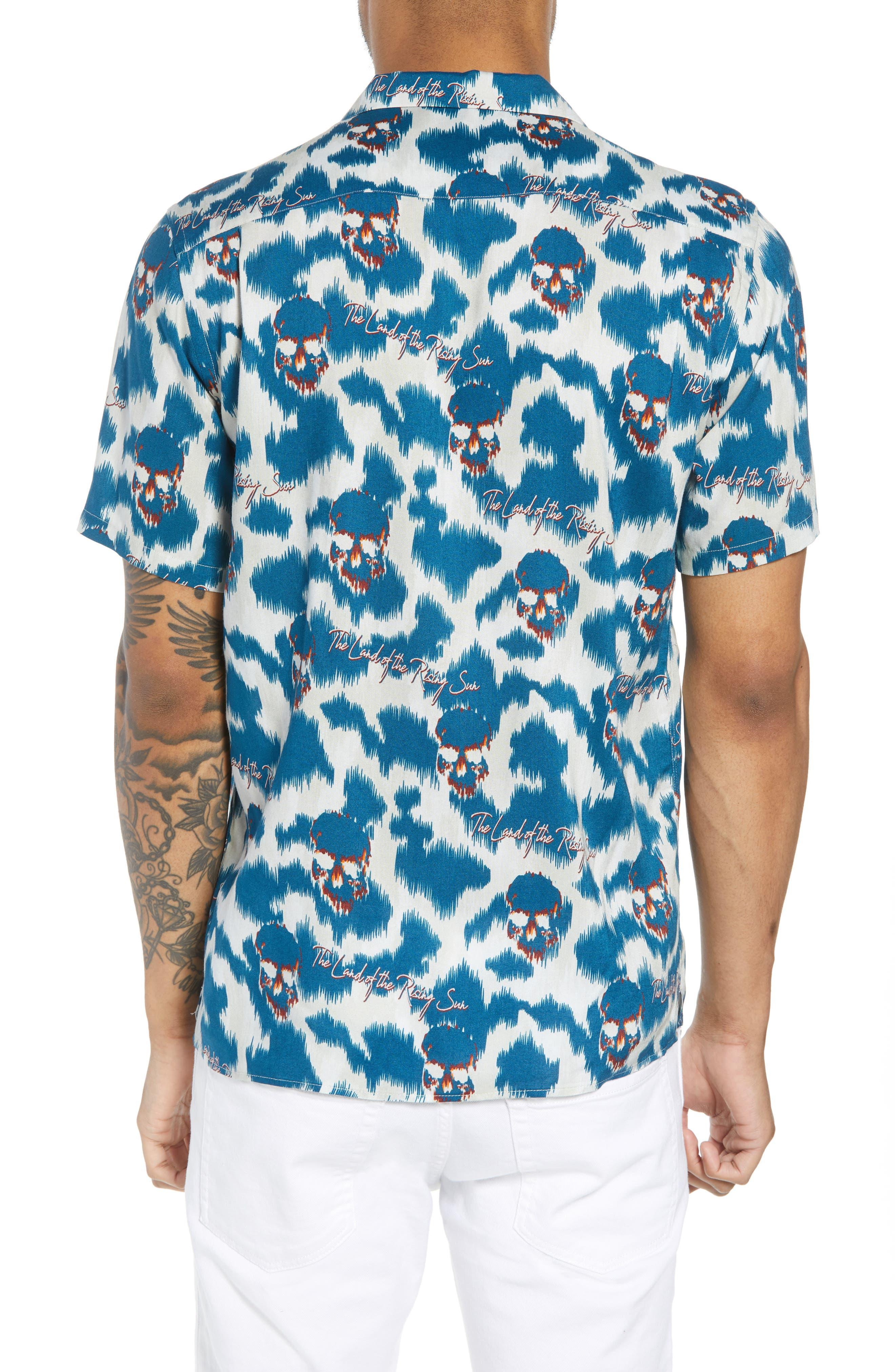 THE KOOPLES,                             Regular Fit Hawaiian Shirt,                             Alternate thumbnail 2, color,                             400