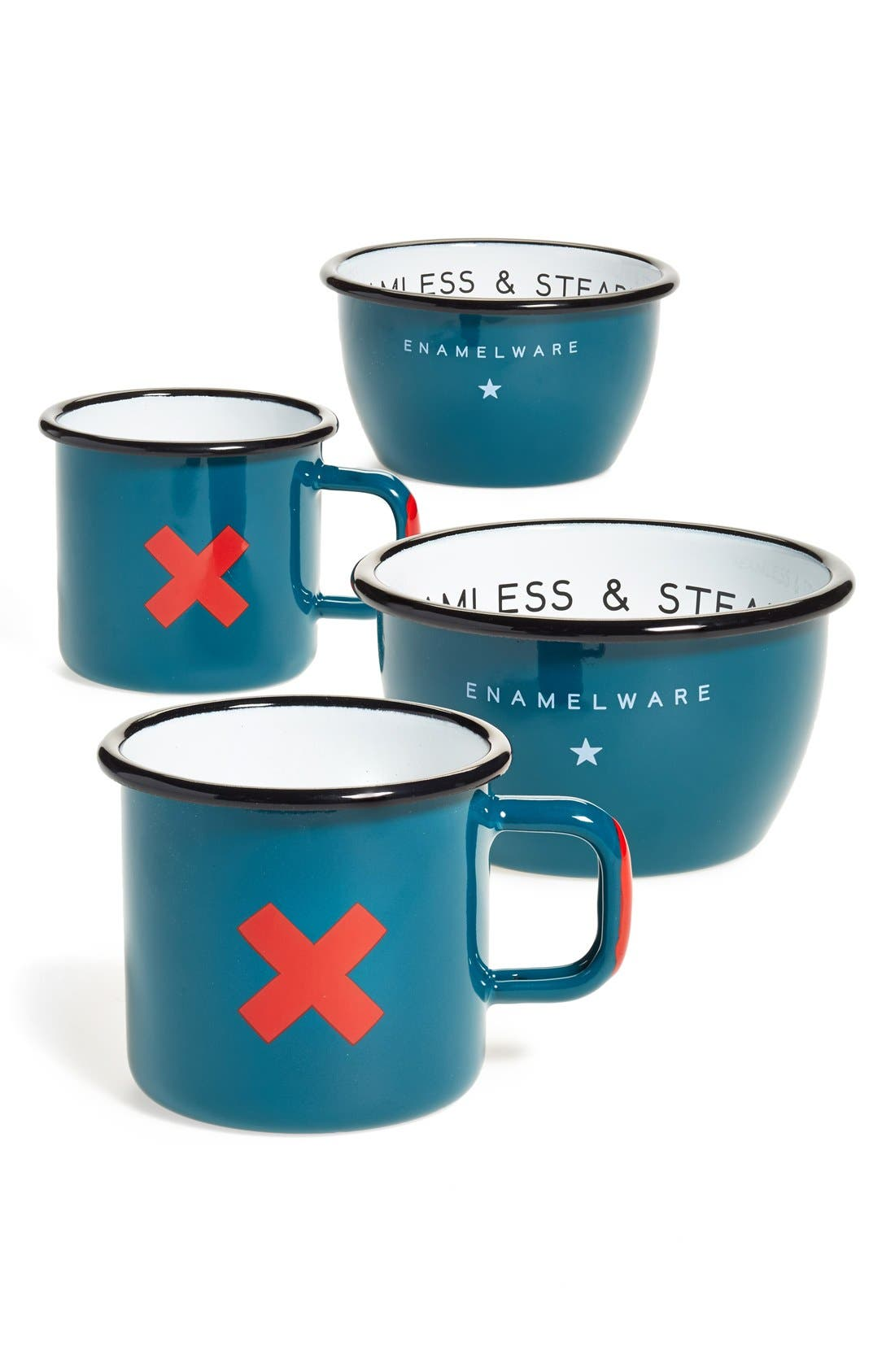 BEST MADE CO.,                             Best Made Co 'Seamless & Steadfast' Enamelware Cups, Bowls & Plates,                             Alternate thumbnail 2, color,                             400
