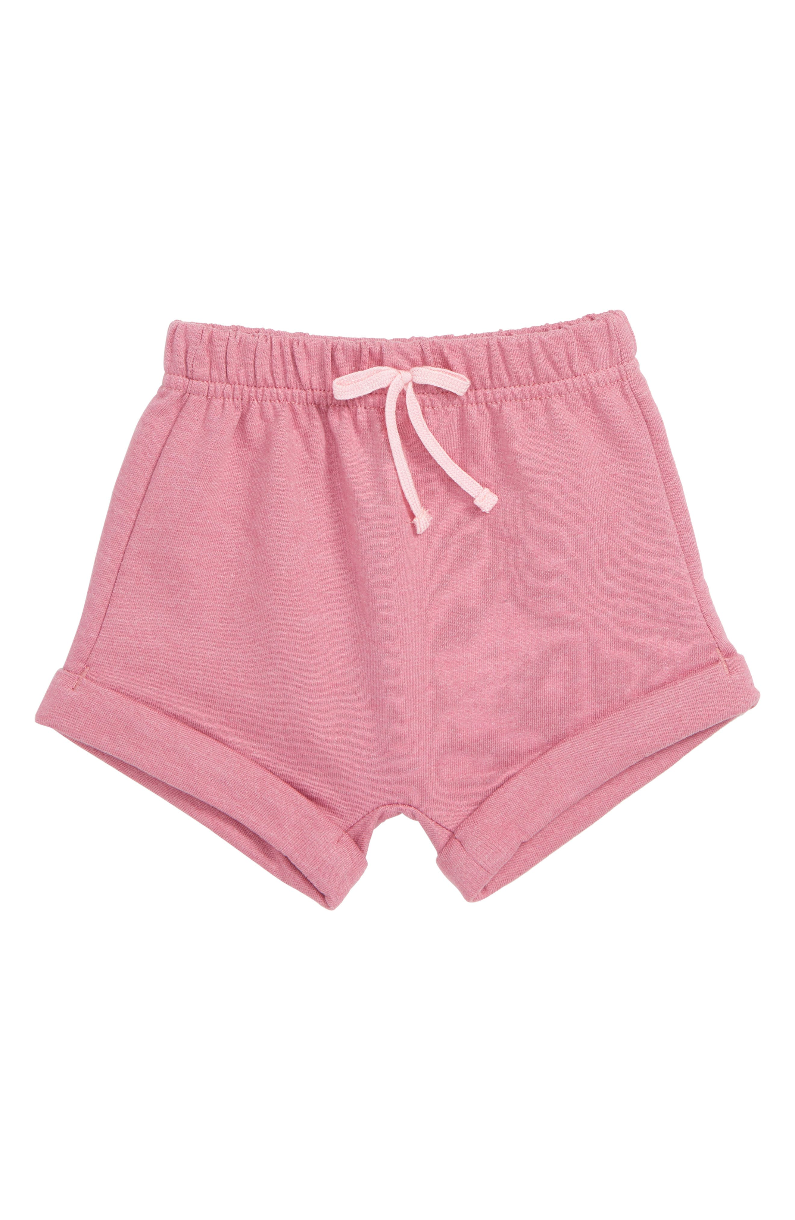 Roll Cuff Shorts, Main, color, PINK