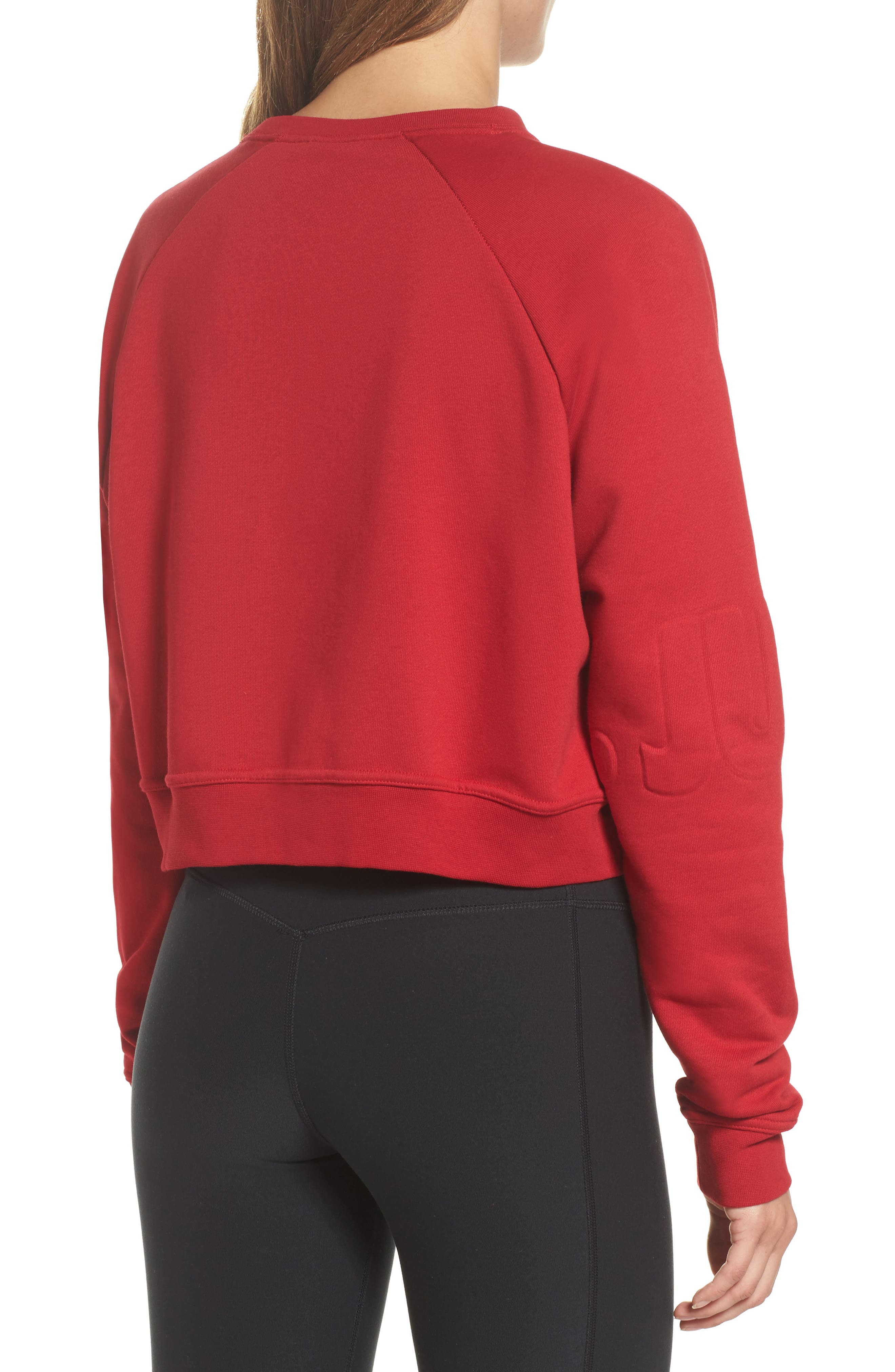 Long Sleeve Crop Training Top,                             Alternate thumbnail 9, color,