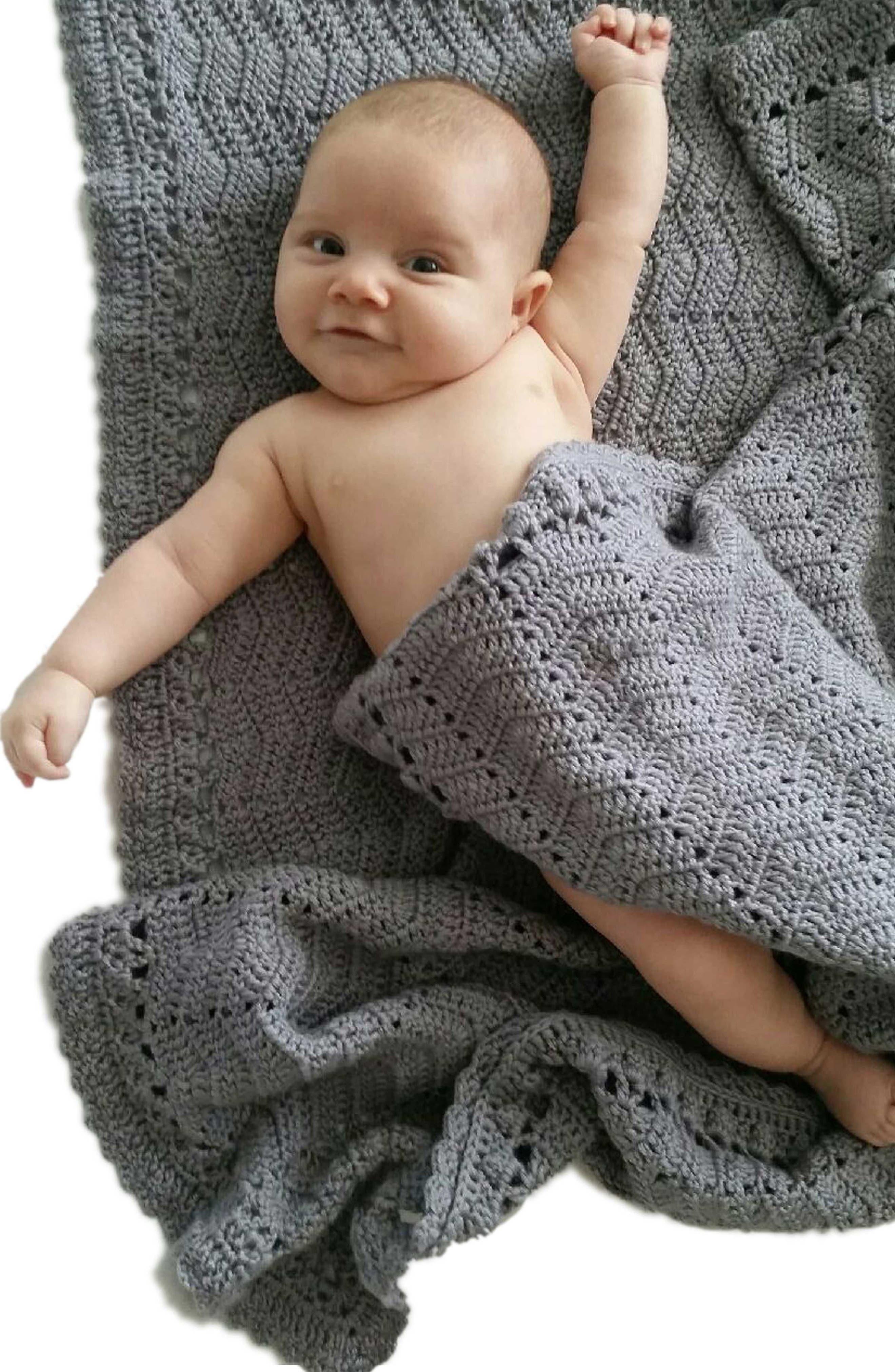 Ripple Crocheted Blanket,                             Alternate thumbnail 4, color,                             020