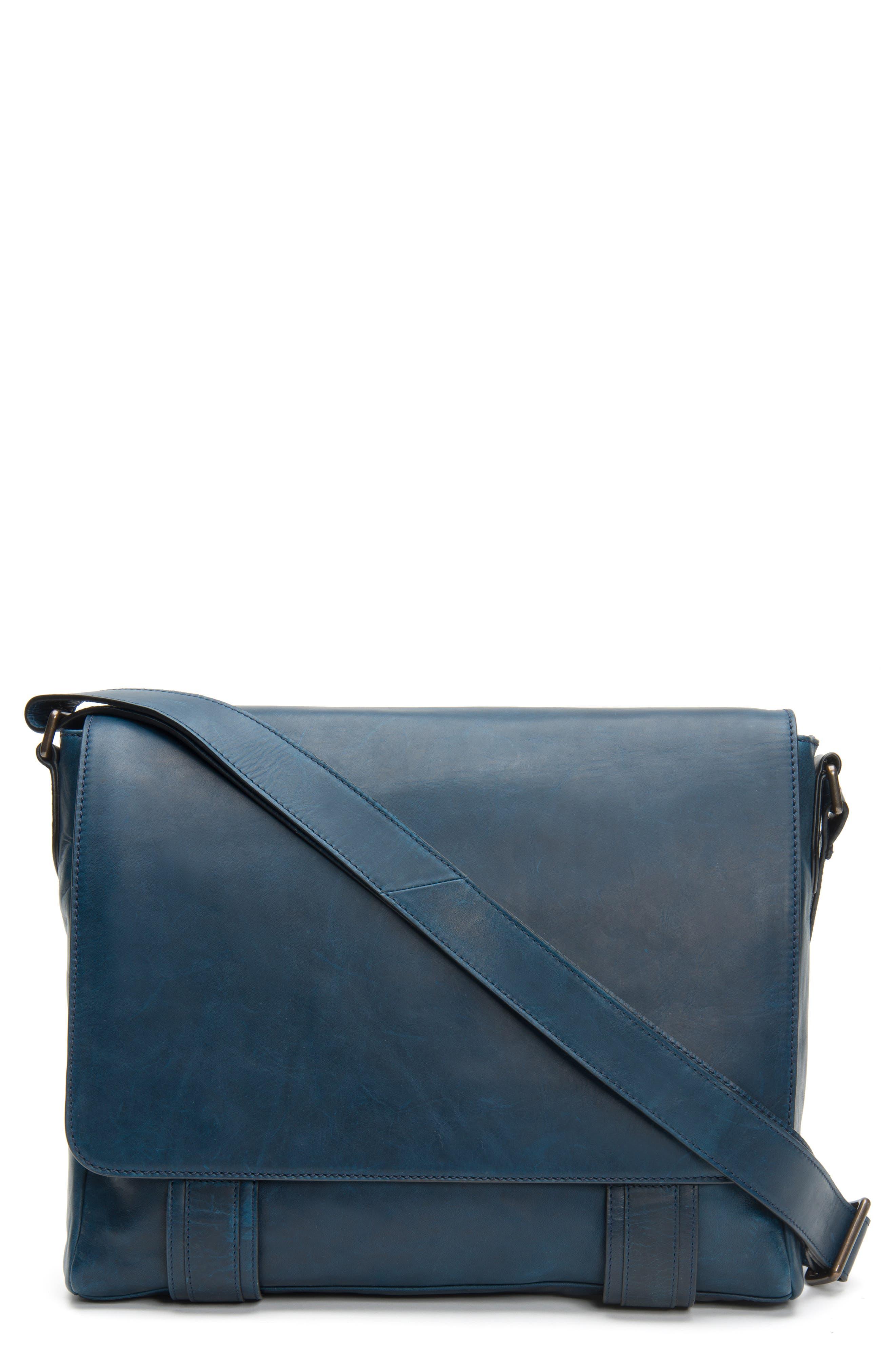 'Logan' Messenger Bag,                         Main,                         color, NAVY