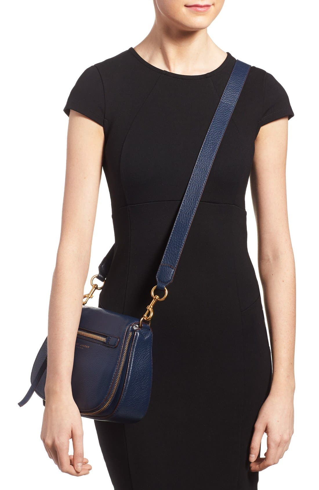Small Recruit Nomad Pebbled Leather Crossbody Bag,                             Alternate thumbnail 21, color,