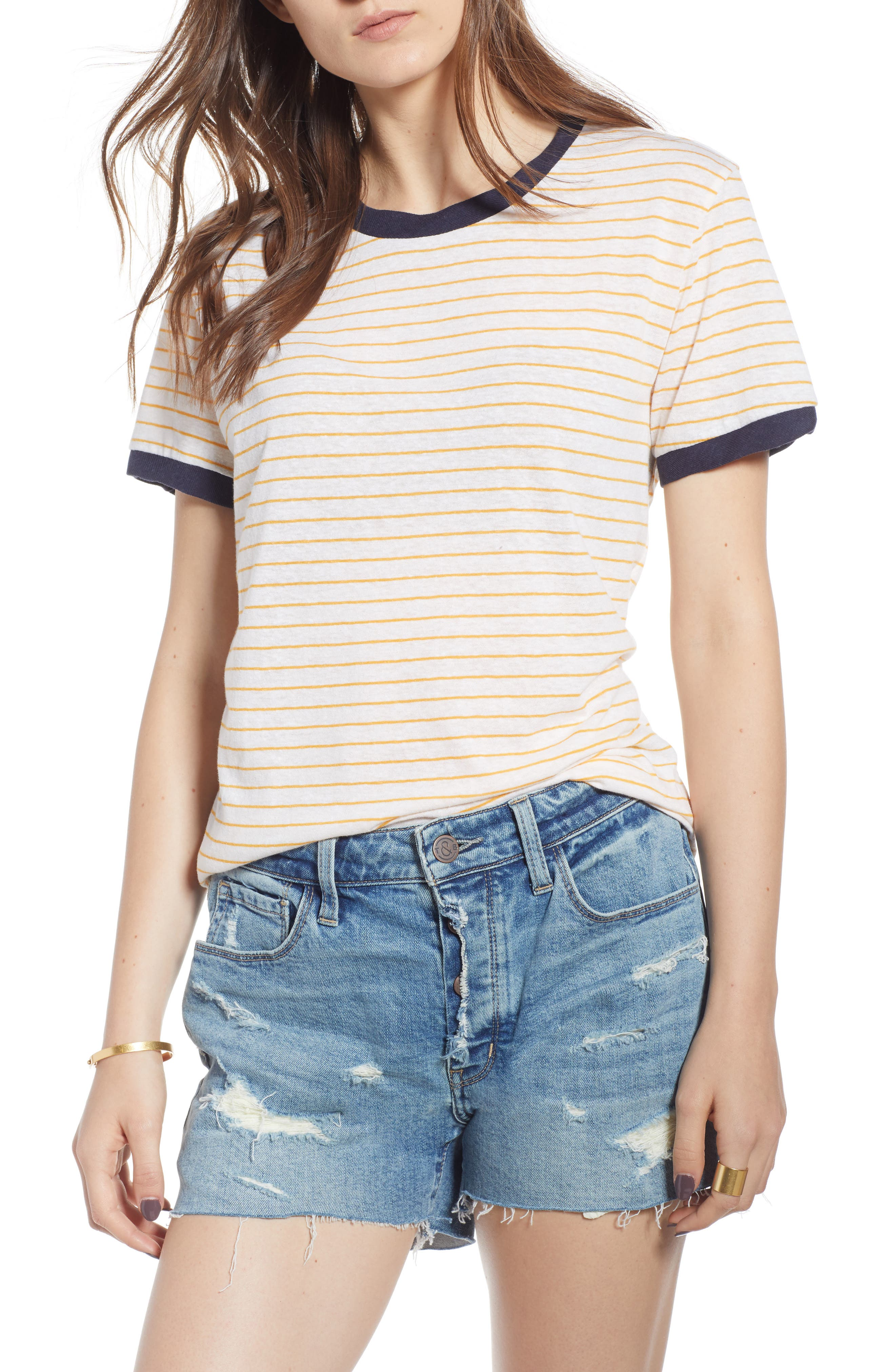 Stripe Ringer Tee,                             Main thumbnail 1, color,