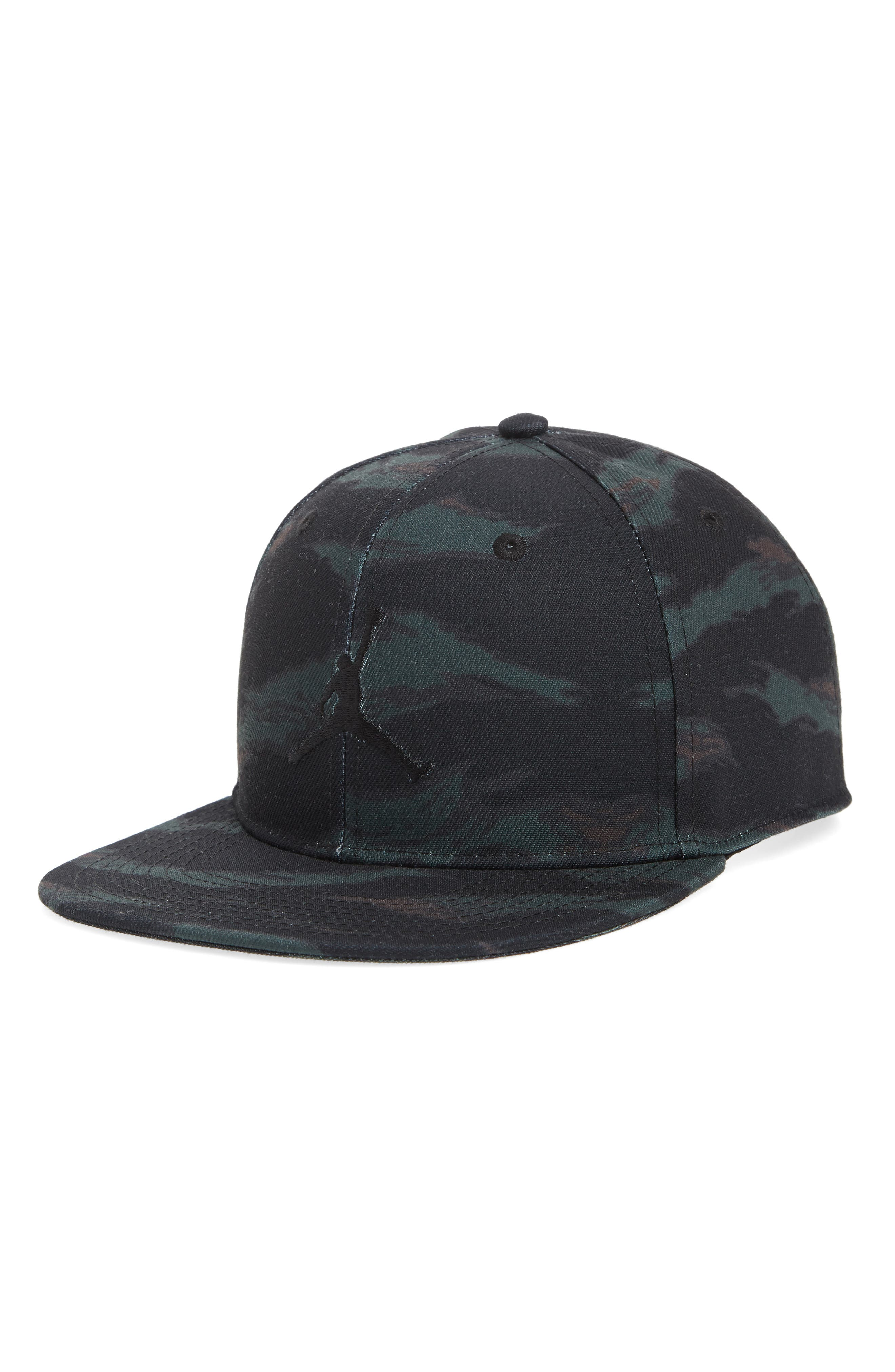 Nike Jumpman Logo Baseball Cap,                         Main,                         color, OLIVE CANVAS/ BLACK