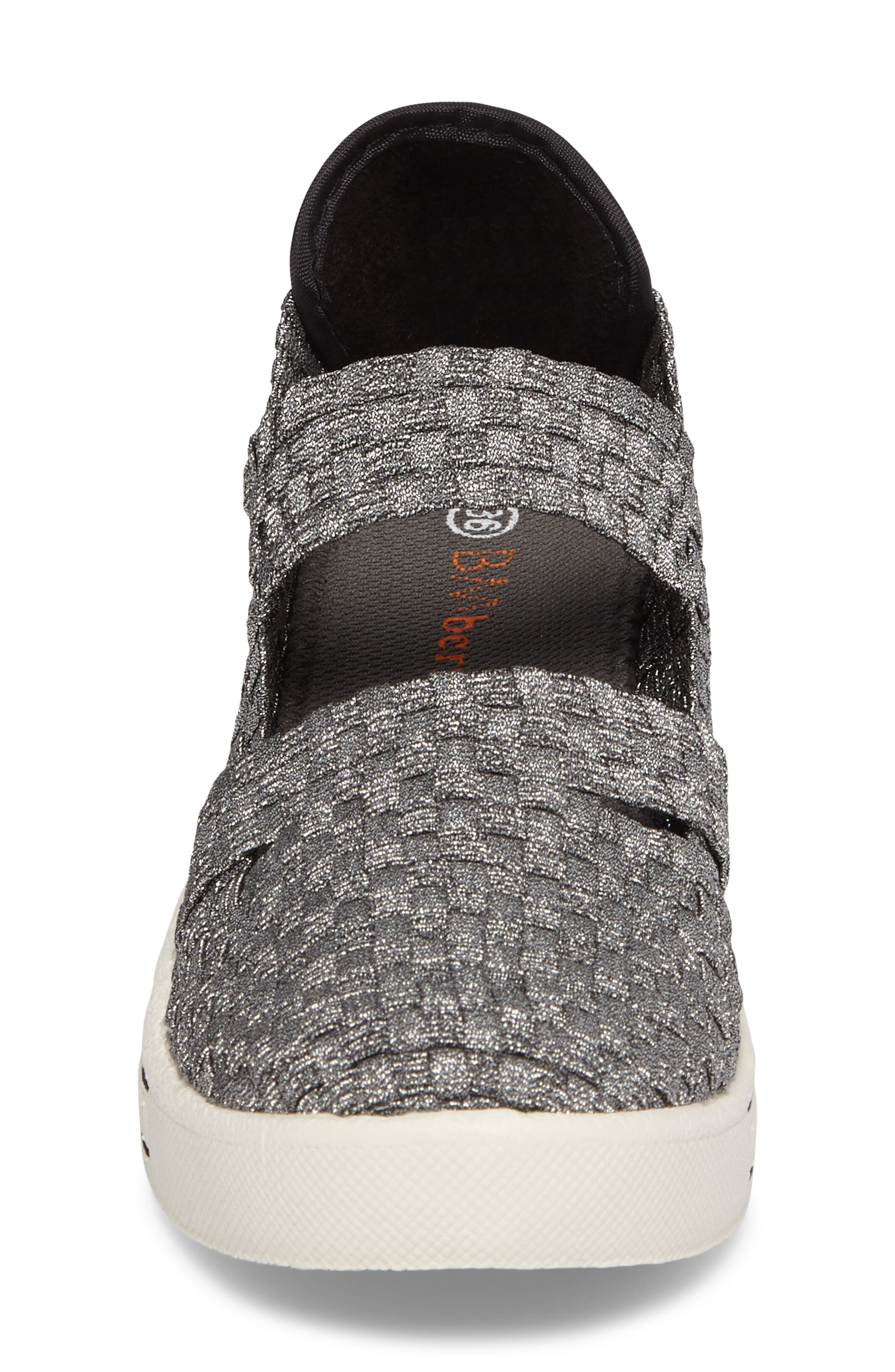 Frontier Woven Mary Jane Wedge,                             Alternate thumbnail 4, color,                             PEWTER FABRIC