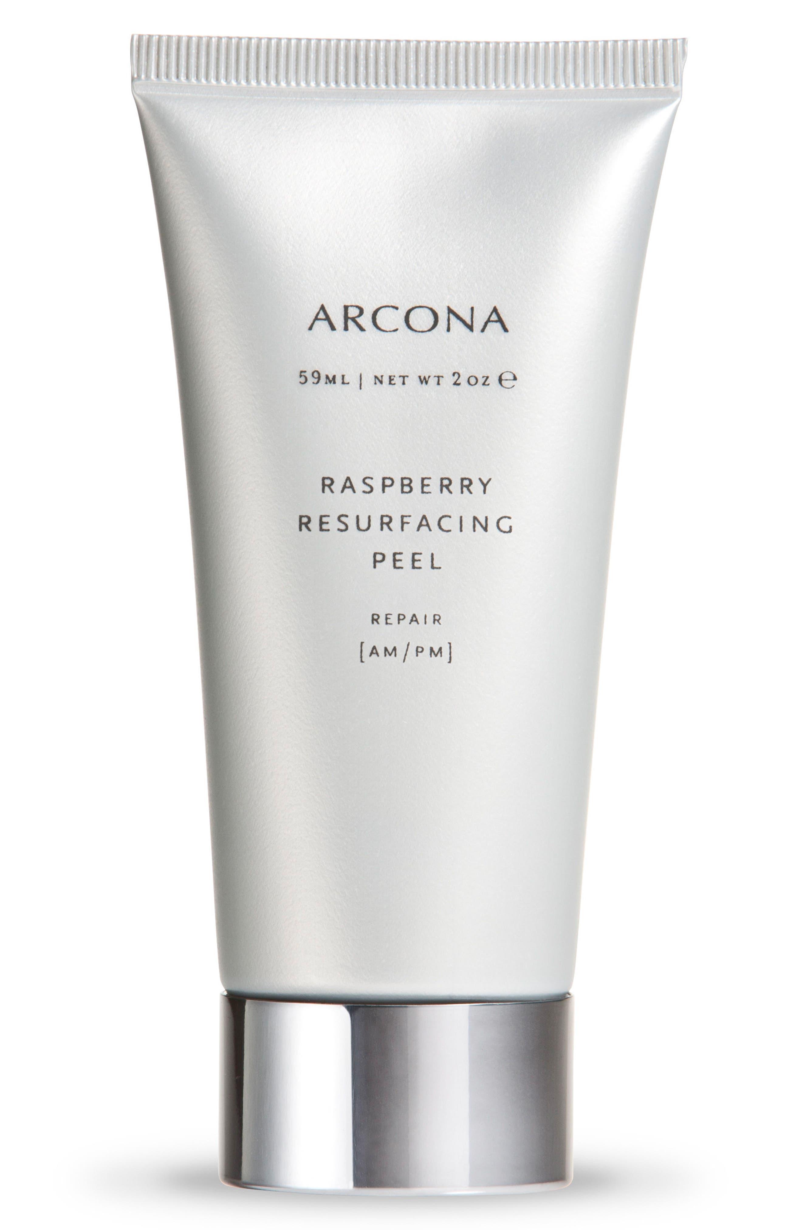 ARCONA Raspberry Resurfacing Peel, Main, color, NO COLOR