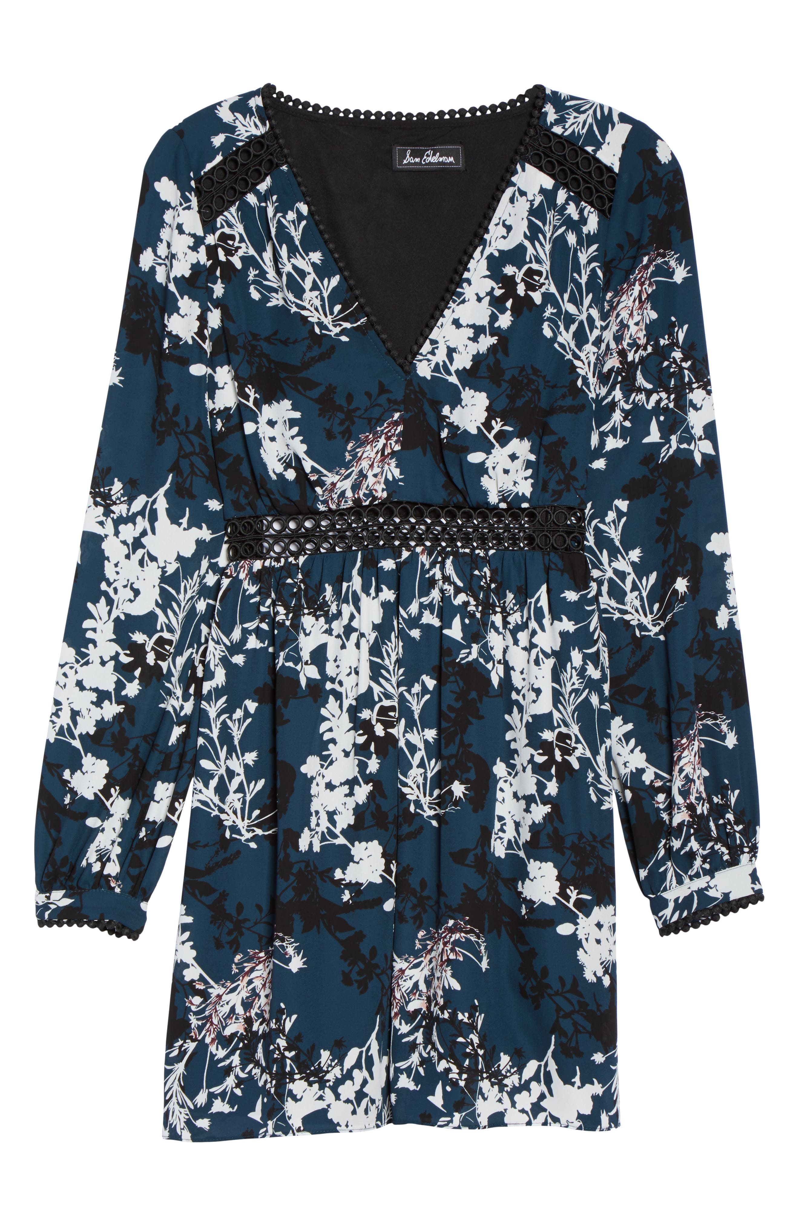 Print Babydoll Dress,                             Alternate thumbnail 6, color,                             556