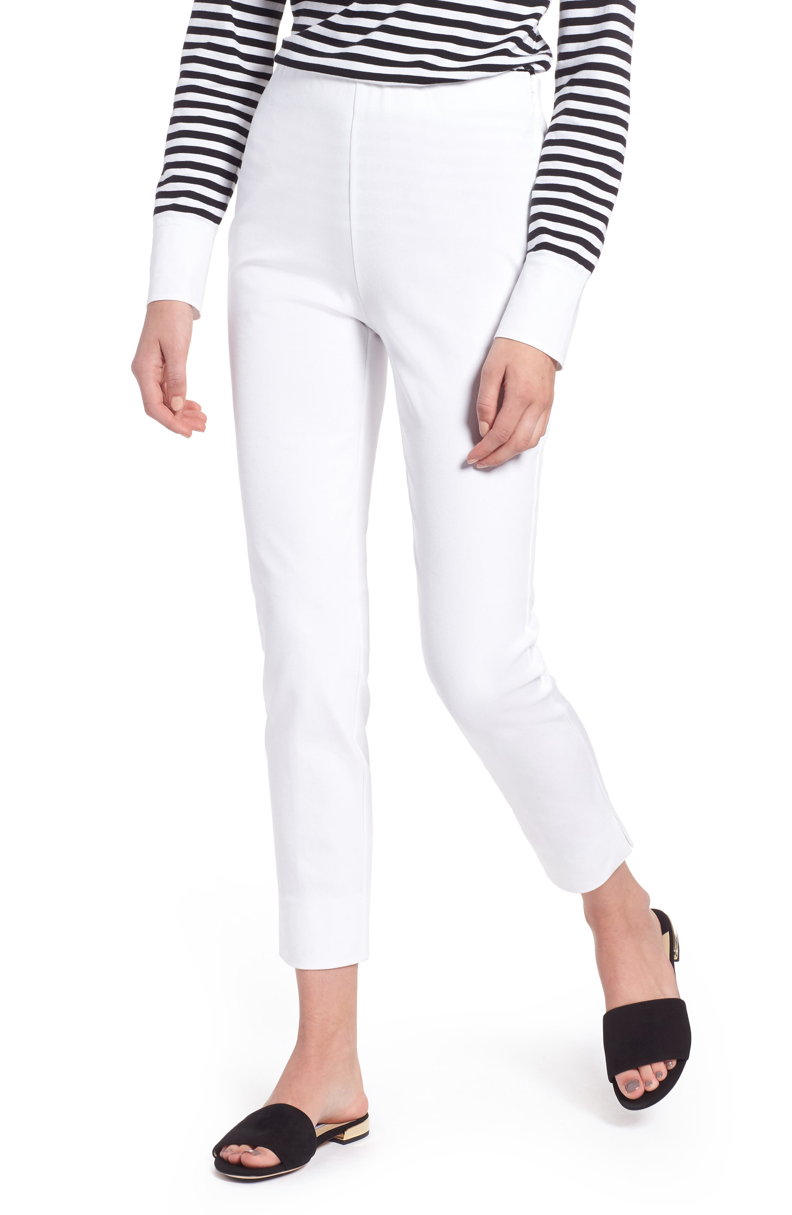 Skinny Stretch Pants,                         Main,                         color, WHITE