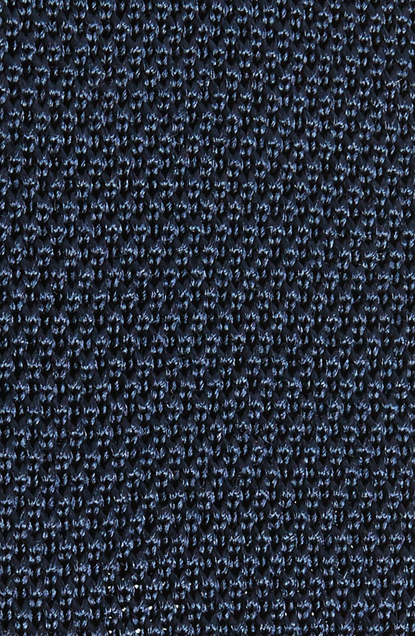 Solid Knit Silk Tie,                             Alternate thumbnail 2, color,                             NAVY