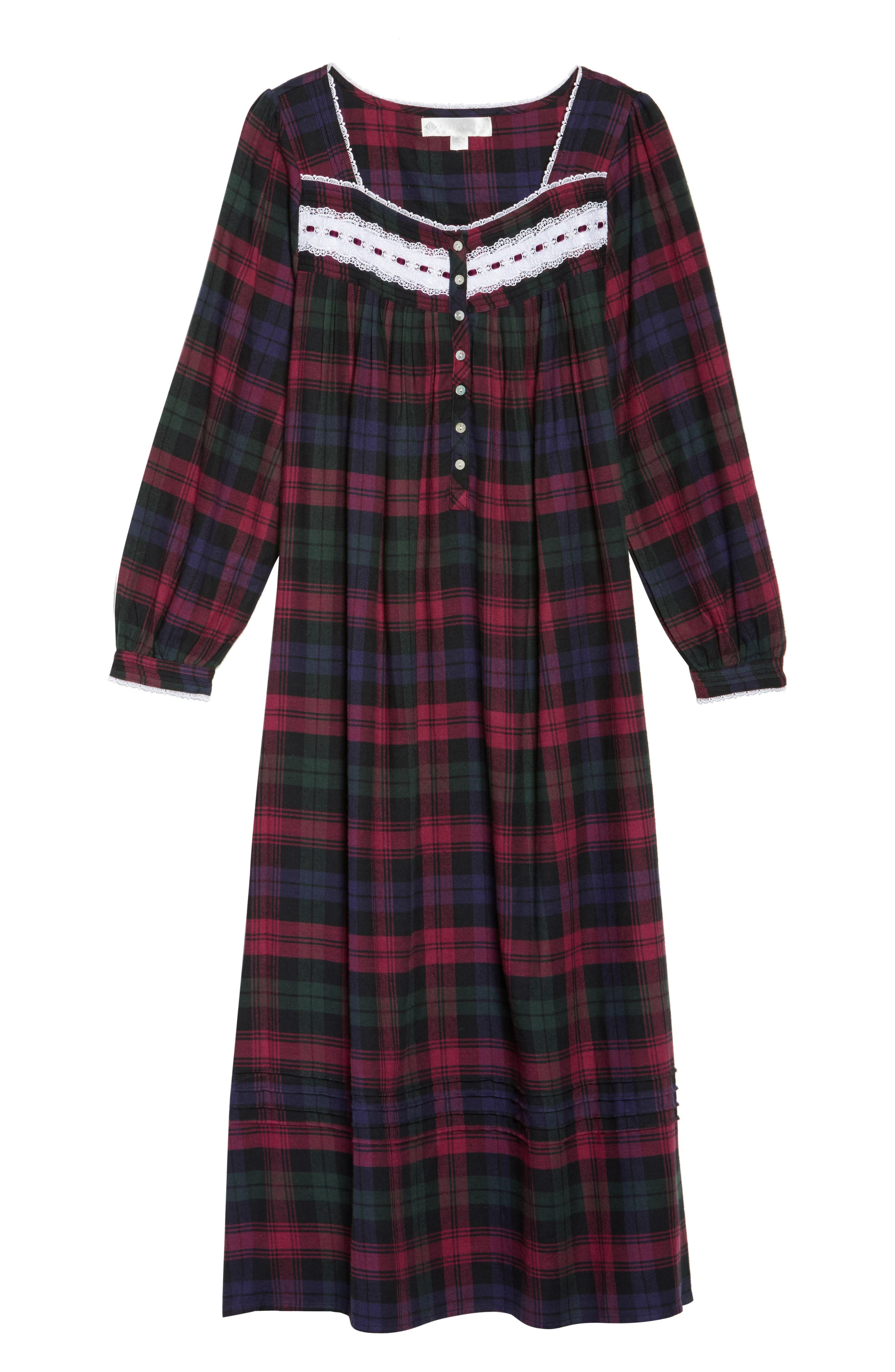 Ballet Flannel Nightgown,                             Alternate thumbnail 12, color,