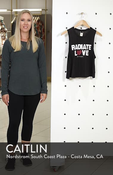 Radiate Love Crop Tank Top, sales video thumbnail