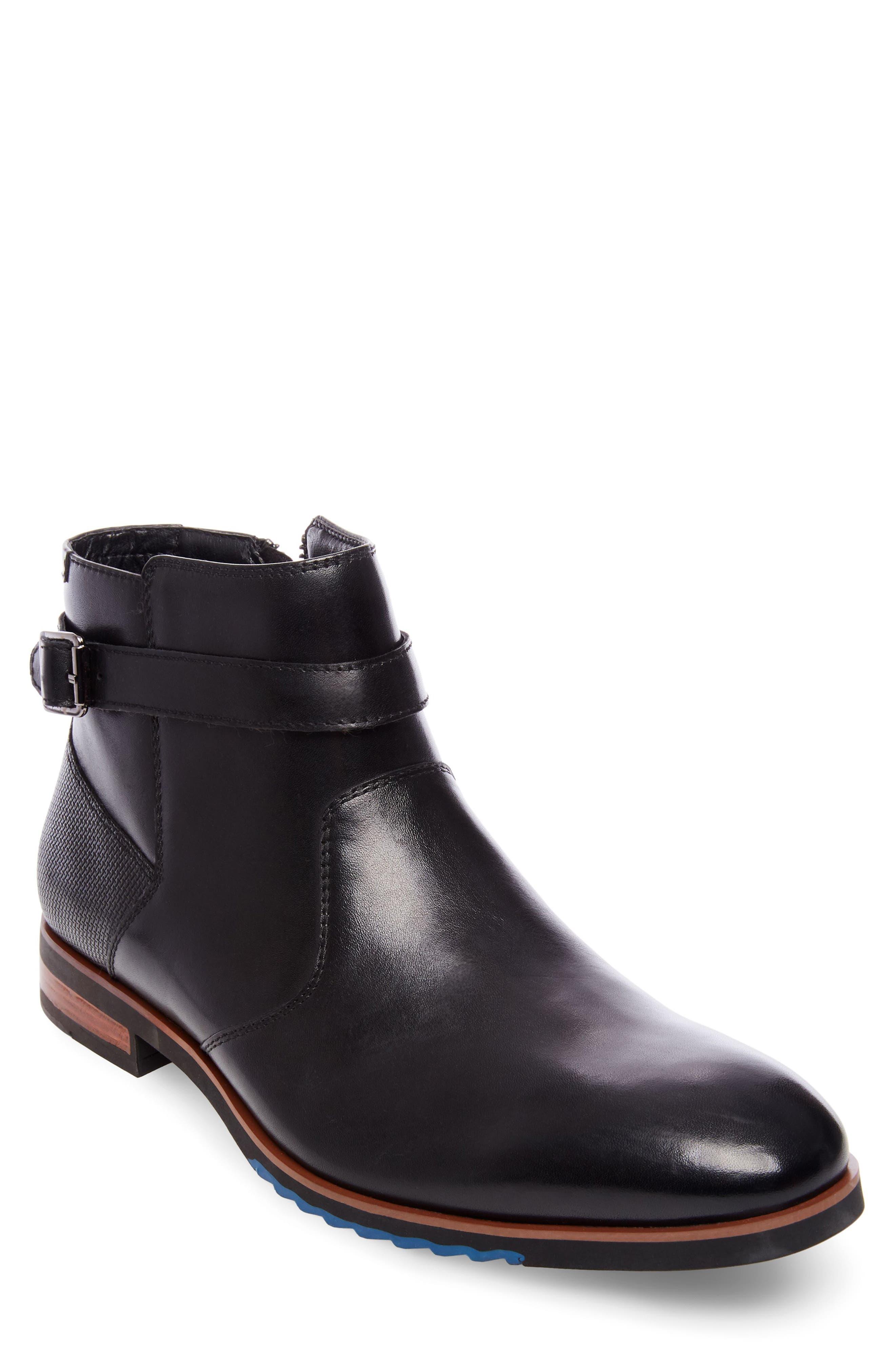 Levant Boot,                             Main thumbnail 1, color,                             BLACK LEATHER