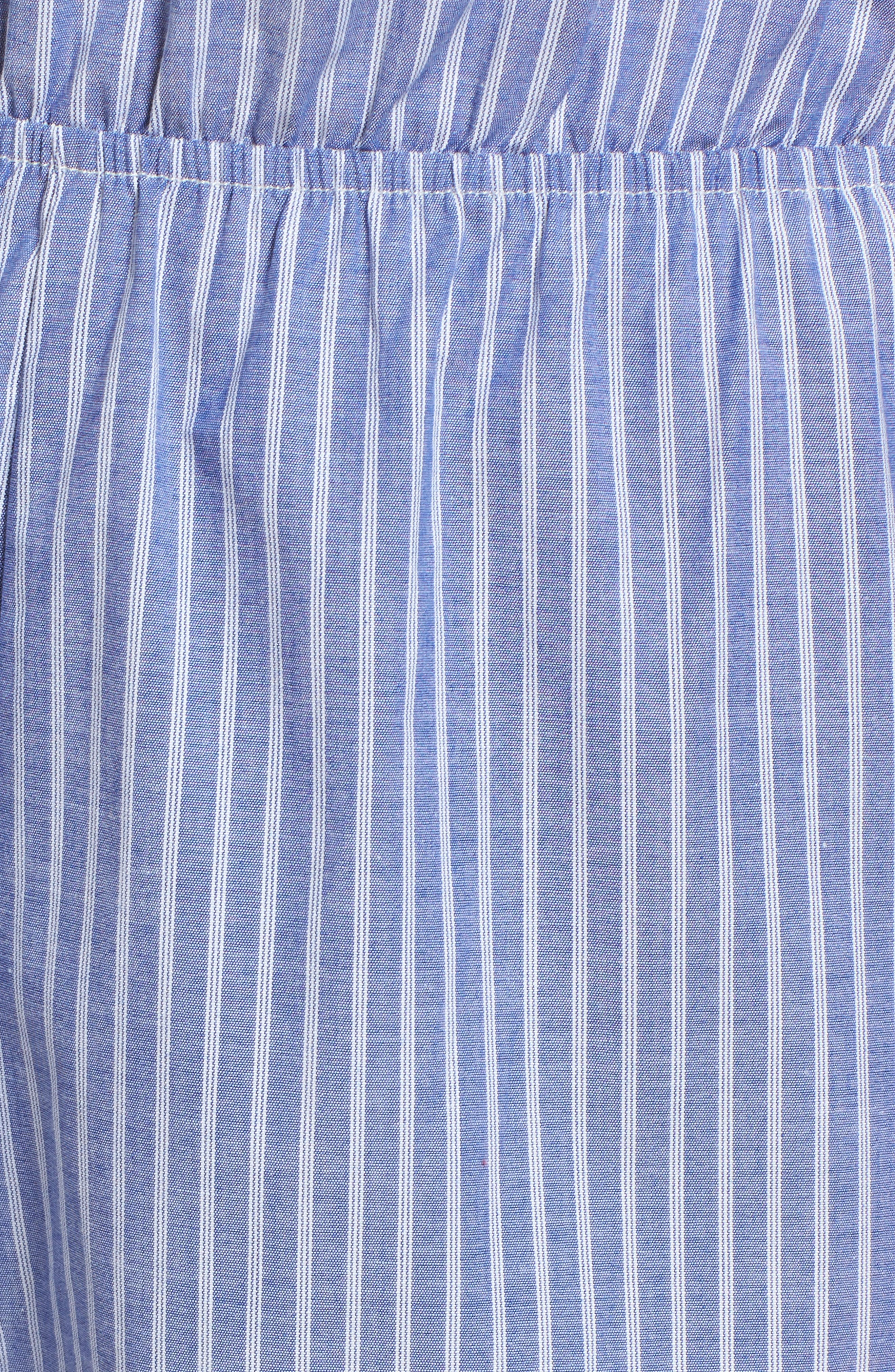 Stripe Off the Shoulder Jumpsuit,                             Alternate thumbnail 5, color,                             460