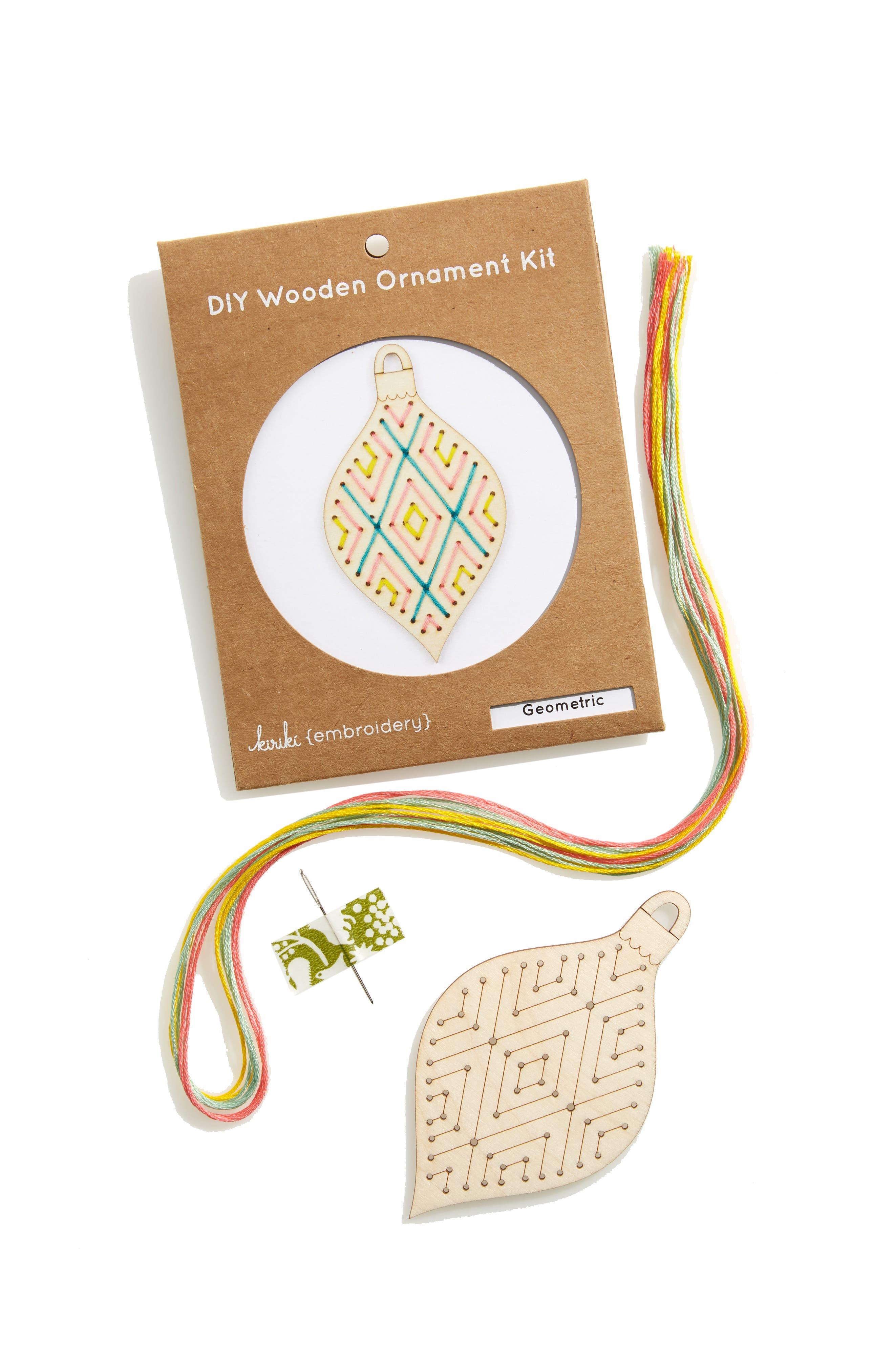 KIRIKI Geometric Wooden Ornament Kit, Main, color, 251
