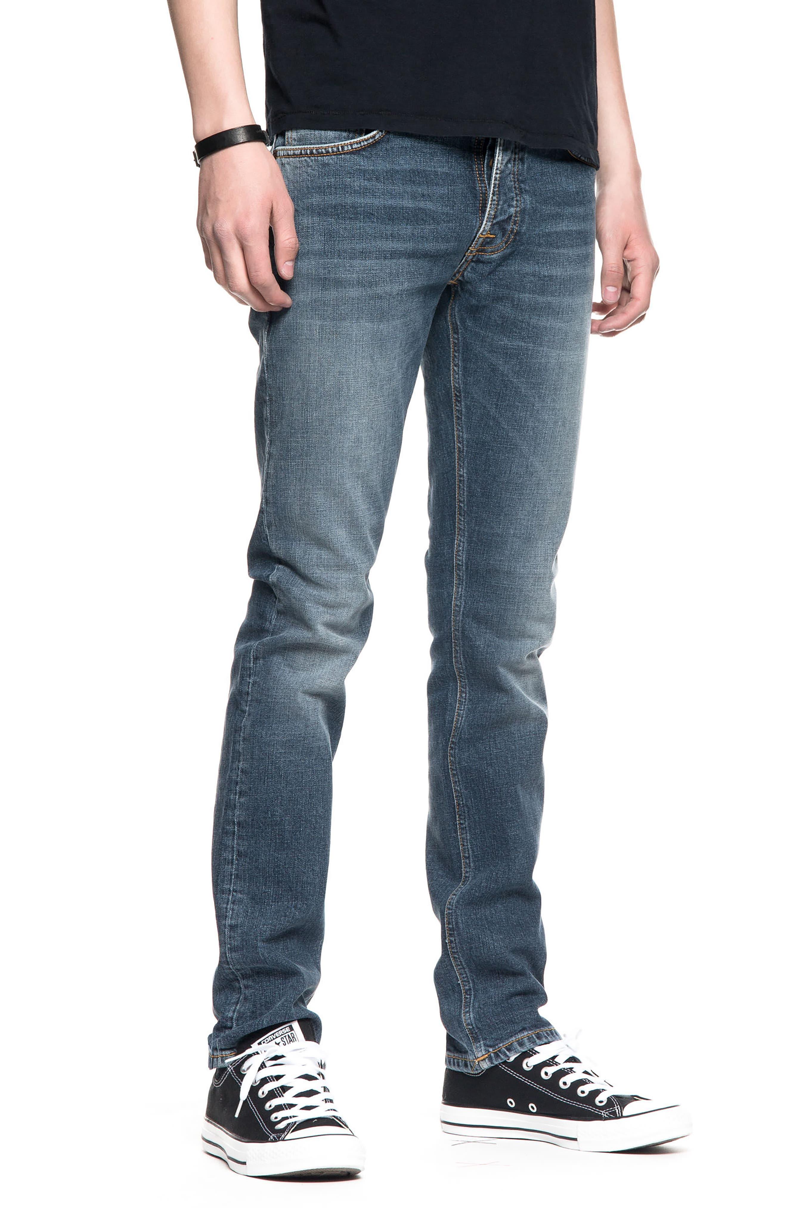 Grim Tim Slim Fit Jeans,                             Alternate thumbnail 4, color,                             460