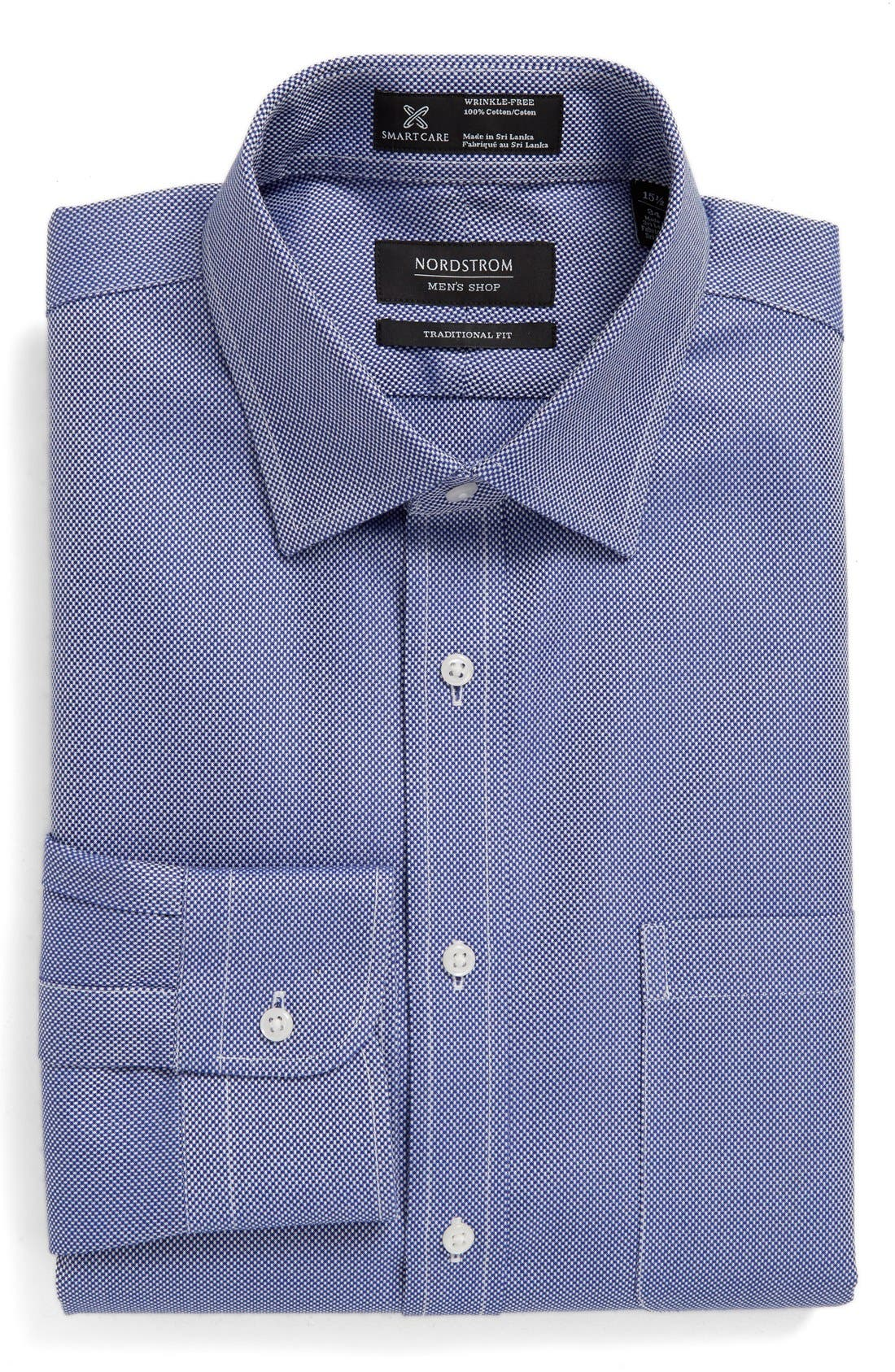 Smartcare<sup>™</sup> Traditional Fit Solid Dress Shirt,                             Main thumbnail 3, color,