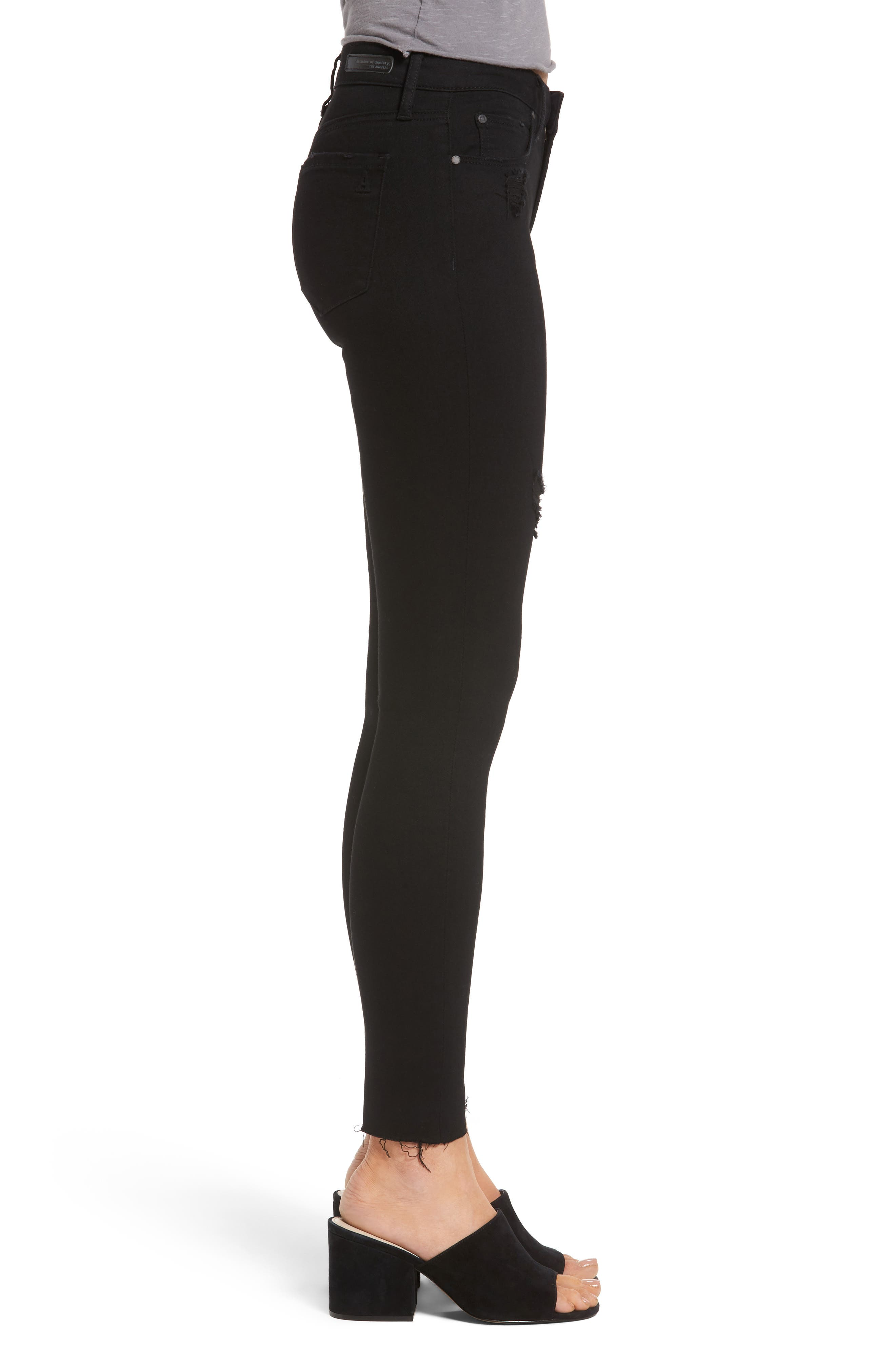 Sarah Skinny Jeans,                             Alternate thumbnail 3, color,                             001
